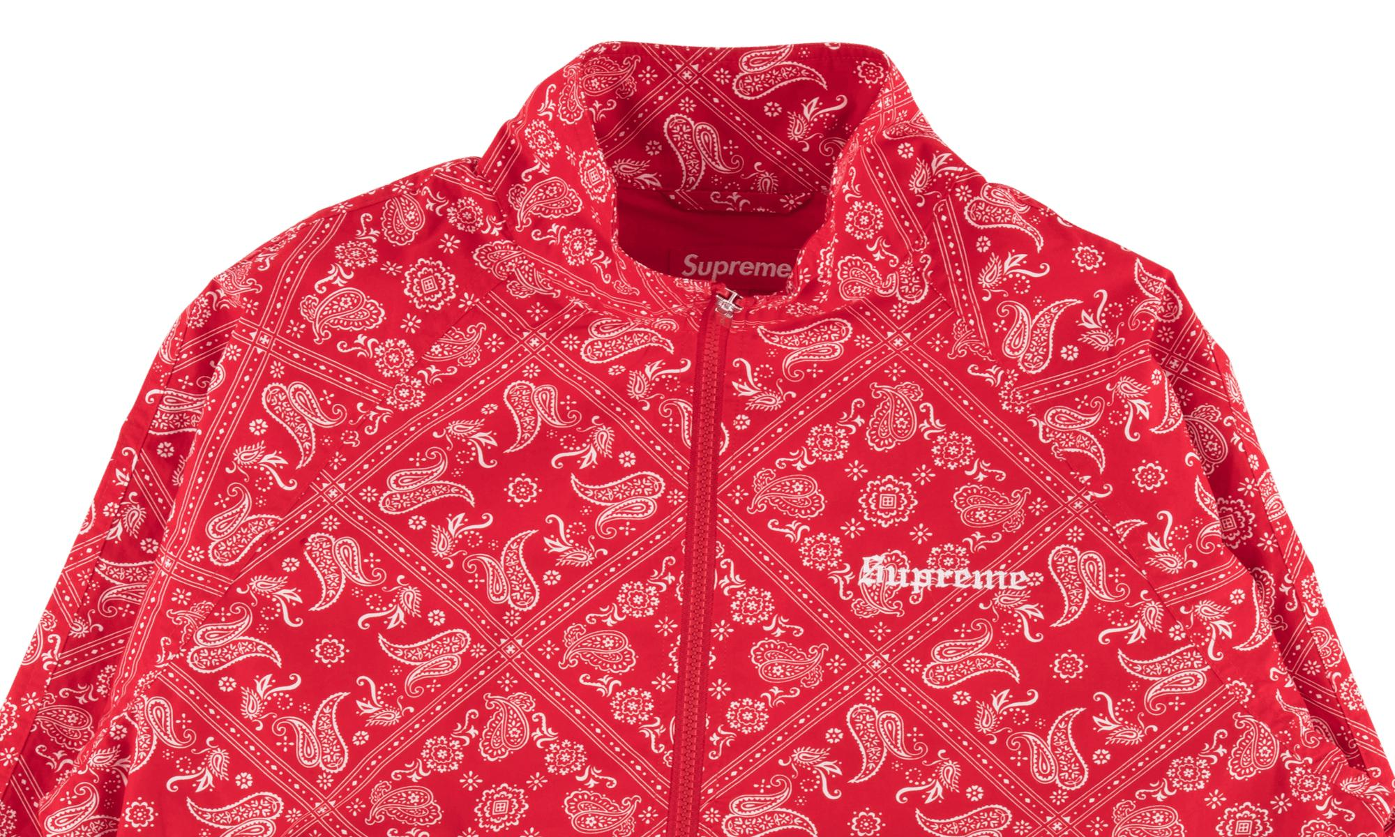 Supreme Bandana Track Jacket In Red Lyst