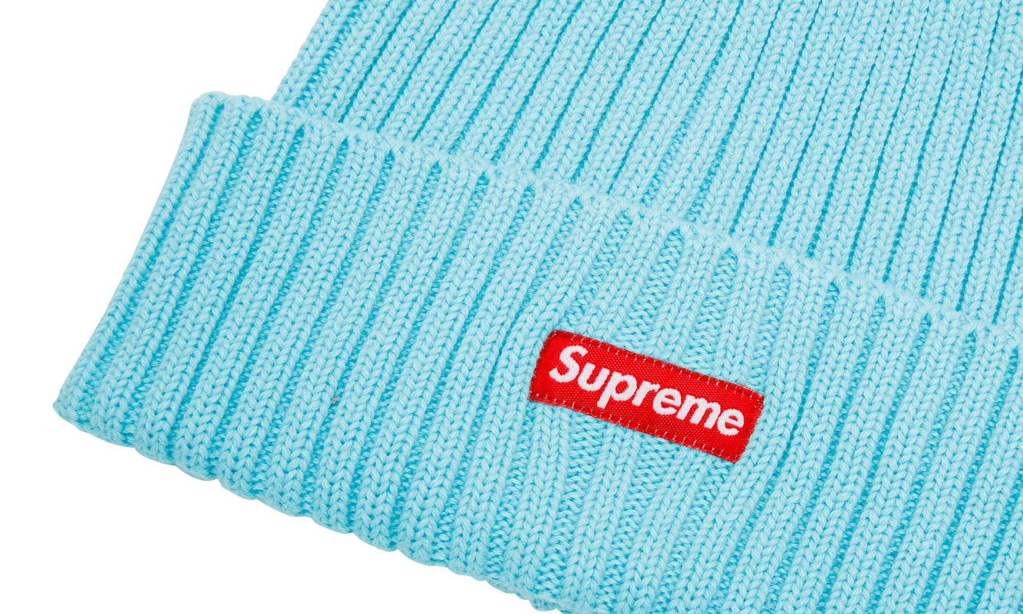 605f9f68 Supreme Overdyed Ribbed Beanie in Blue for Men - Lyst