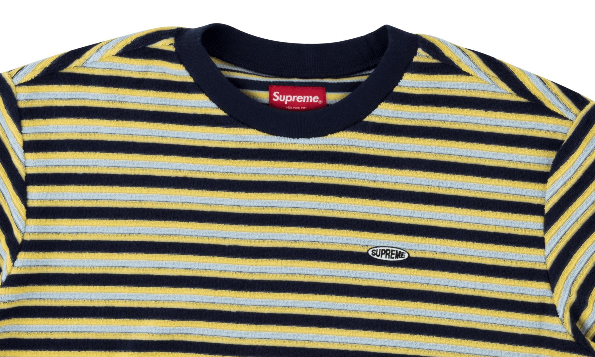 0d08366c55d4 Supreme - Multicolor Multi Stripe Terry Tee for Men - Lyst. View fullscreen