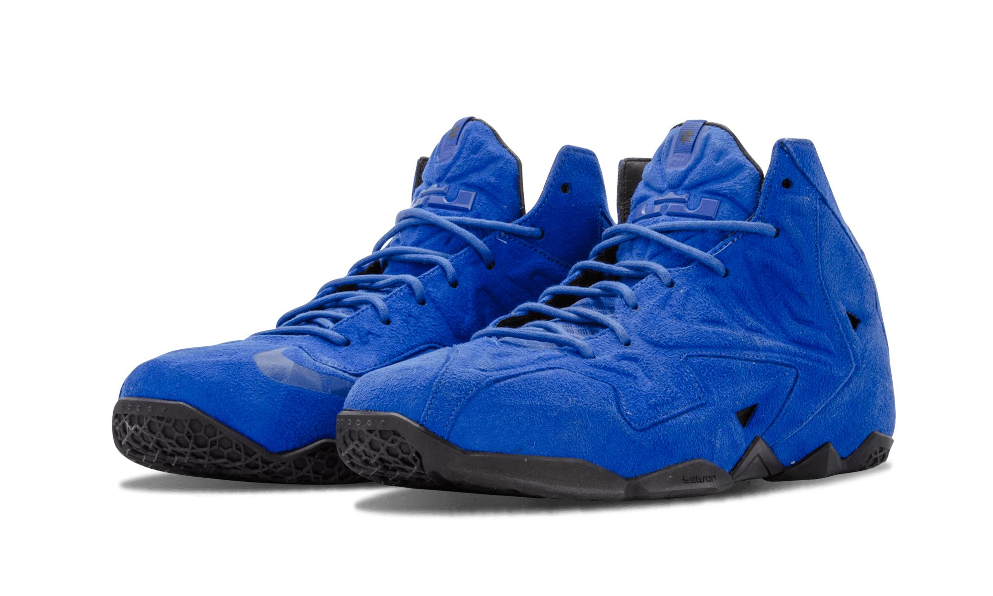 more photos c2324 6f248 Nike - Blue Lebron 11 Ext Suede Qs for Men - Lyst. View fullscreen