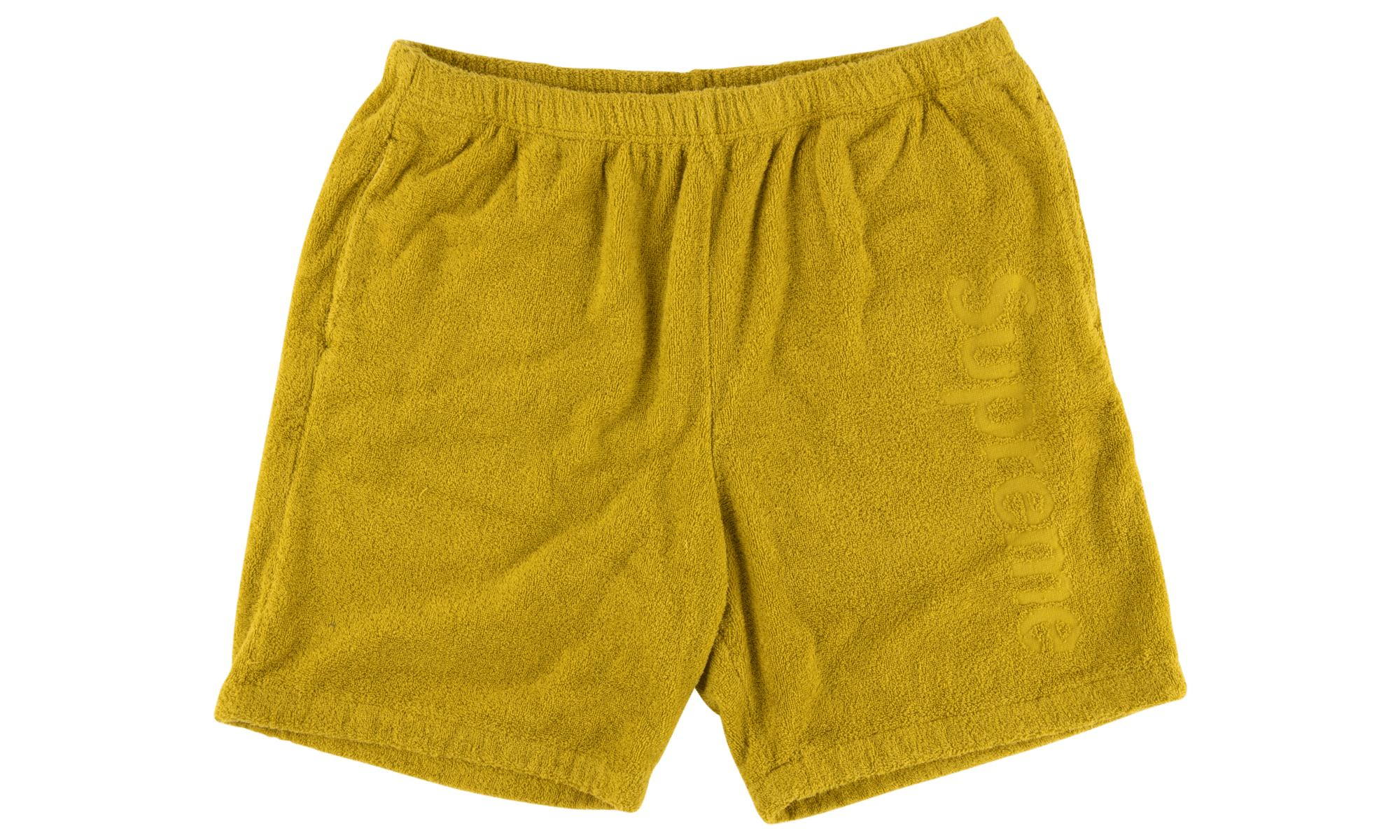 14bbd66e4170 Lyst - Supreme Terry Logo Short in Yellow