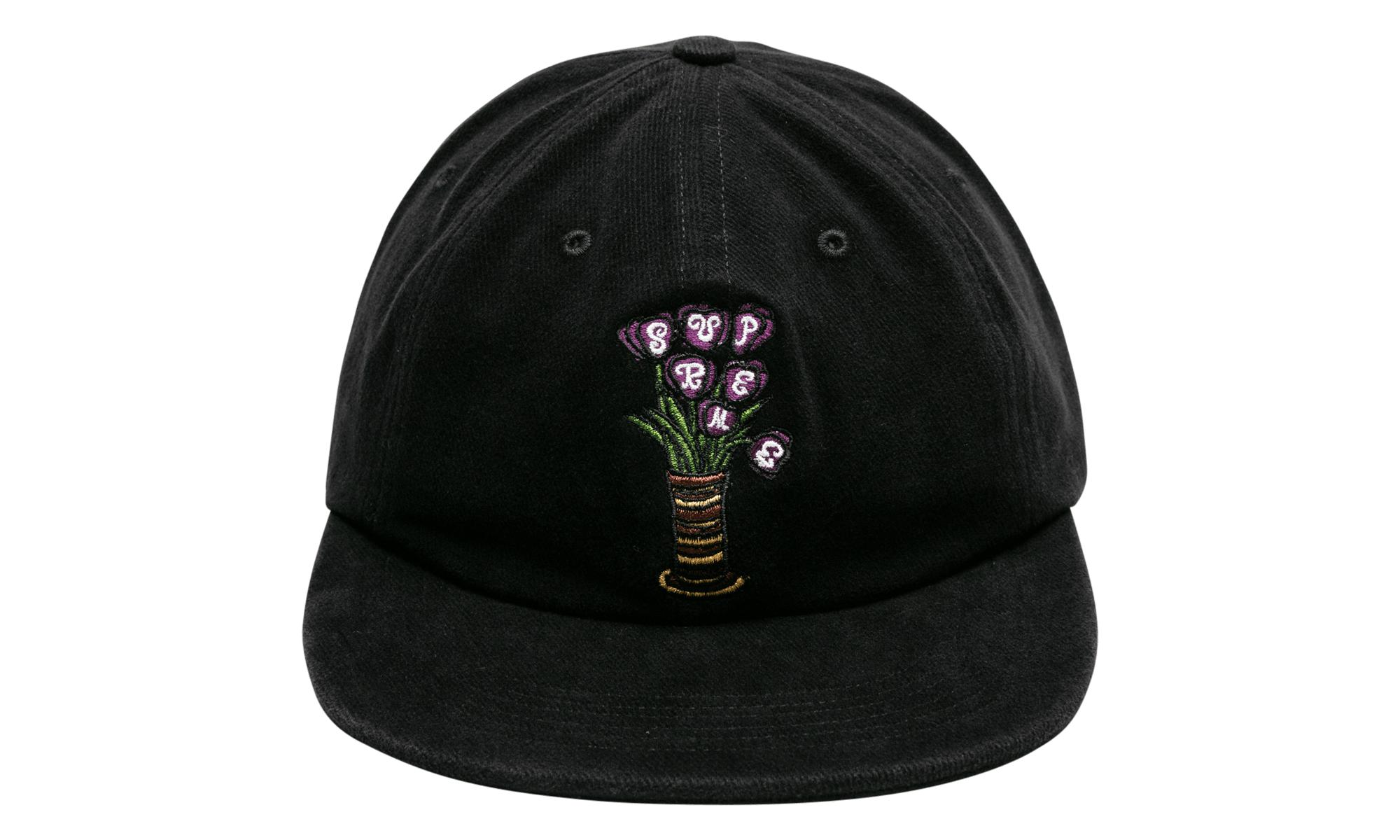 1295a57afcccb Lyst - Supreme Flowers 6-panel in Black for Men