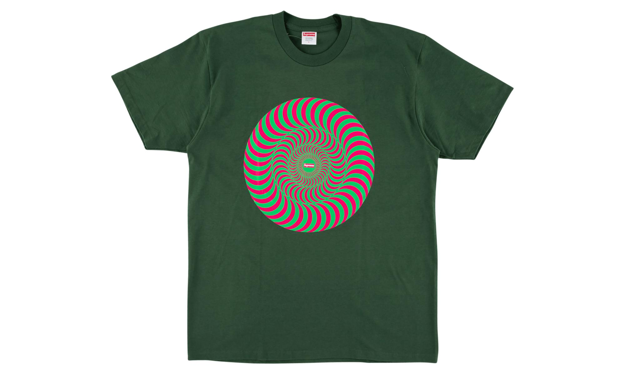 9b6fab07690 Lyst - Supreme Spitfire Classic Swirl Tee in Green for Men