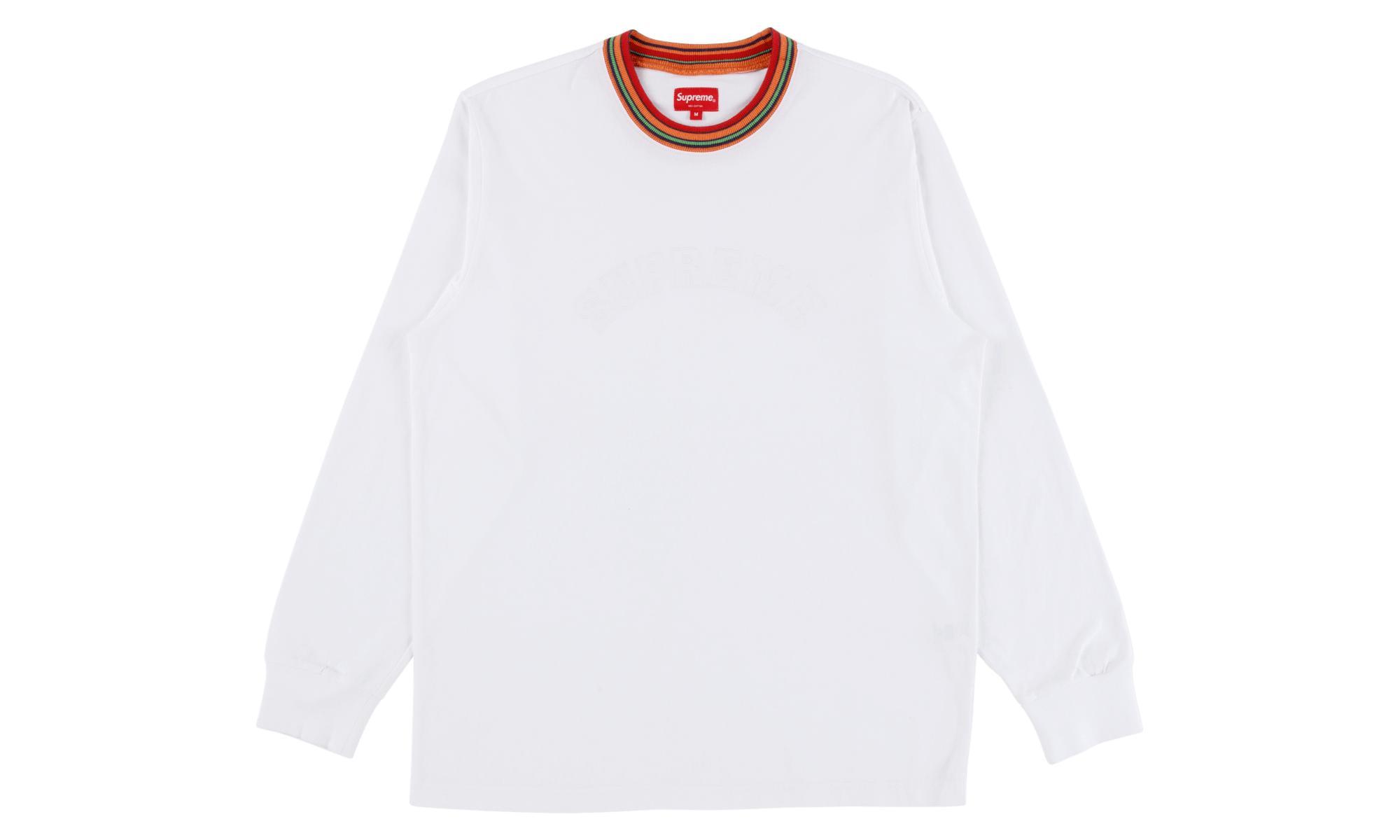 6b6b2c55ee27 Supreme Multicolor Striped Rib L s Top in White for Men - Lyst