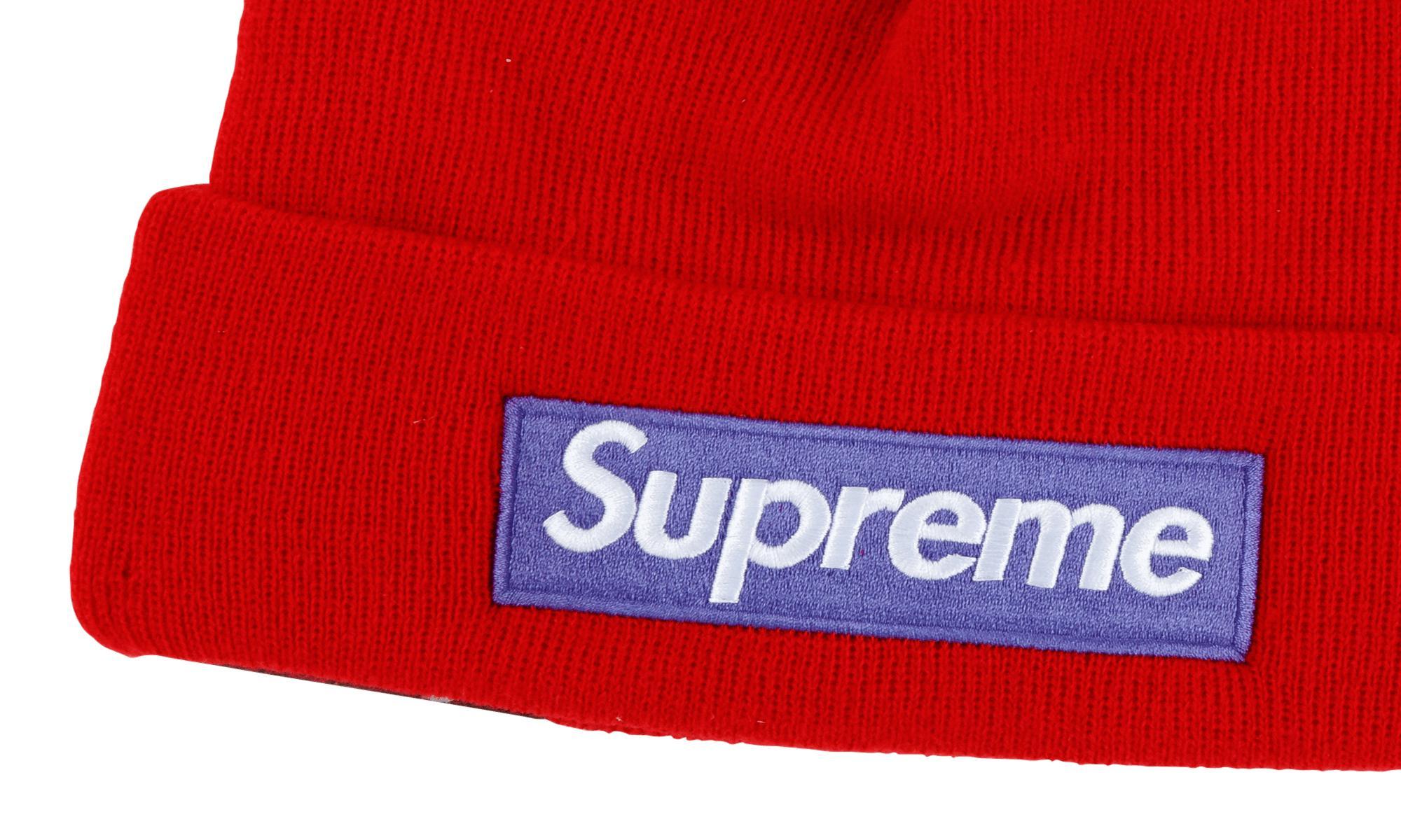 873329d6 Supreme New Era Box Logo Beanie in Red for Men - Lyst