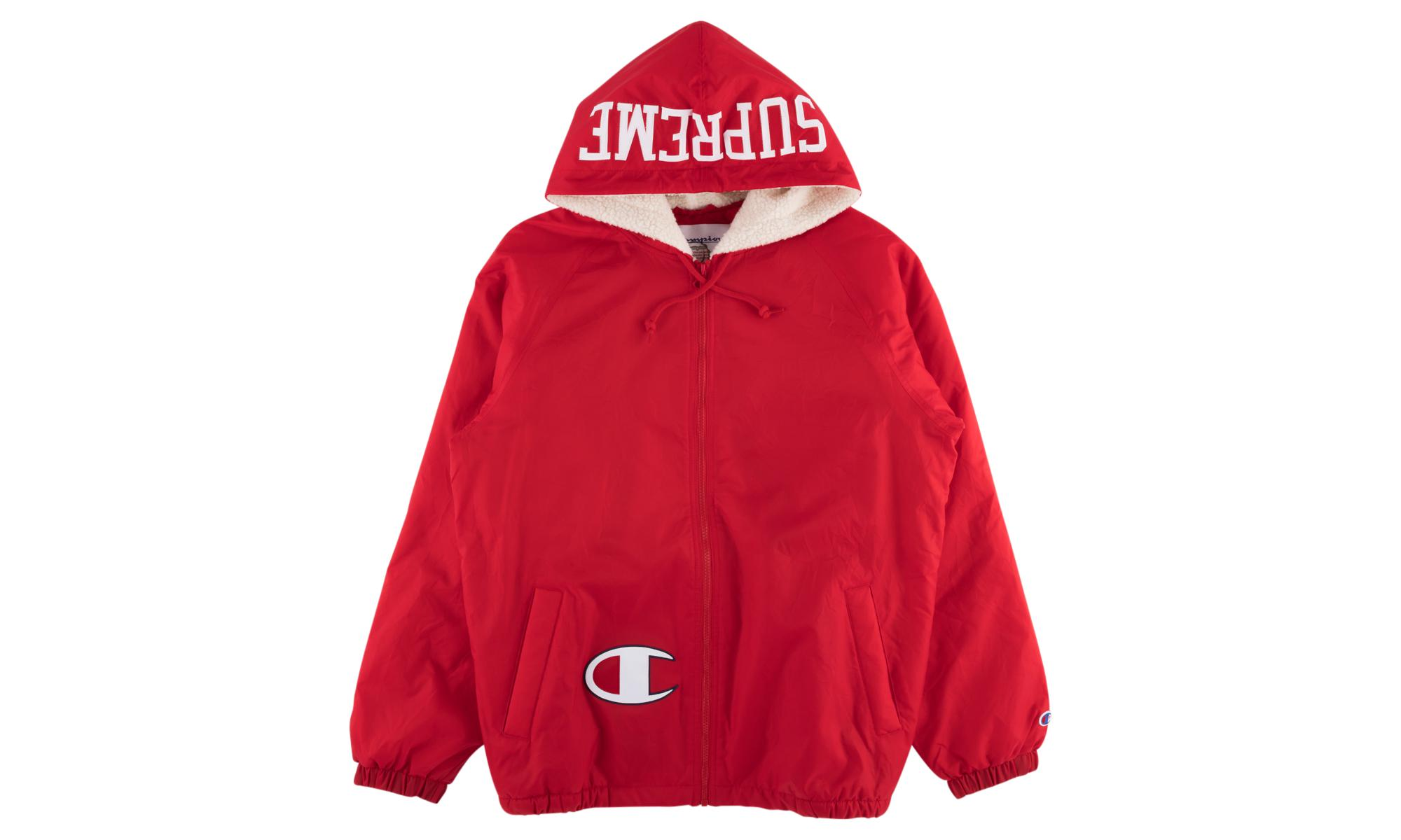 73db692656 Supreme - Red Champion Sherpa Lined Hooded J for Men - Lyst. View fullscreen