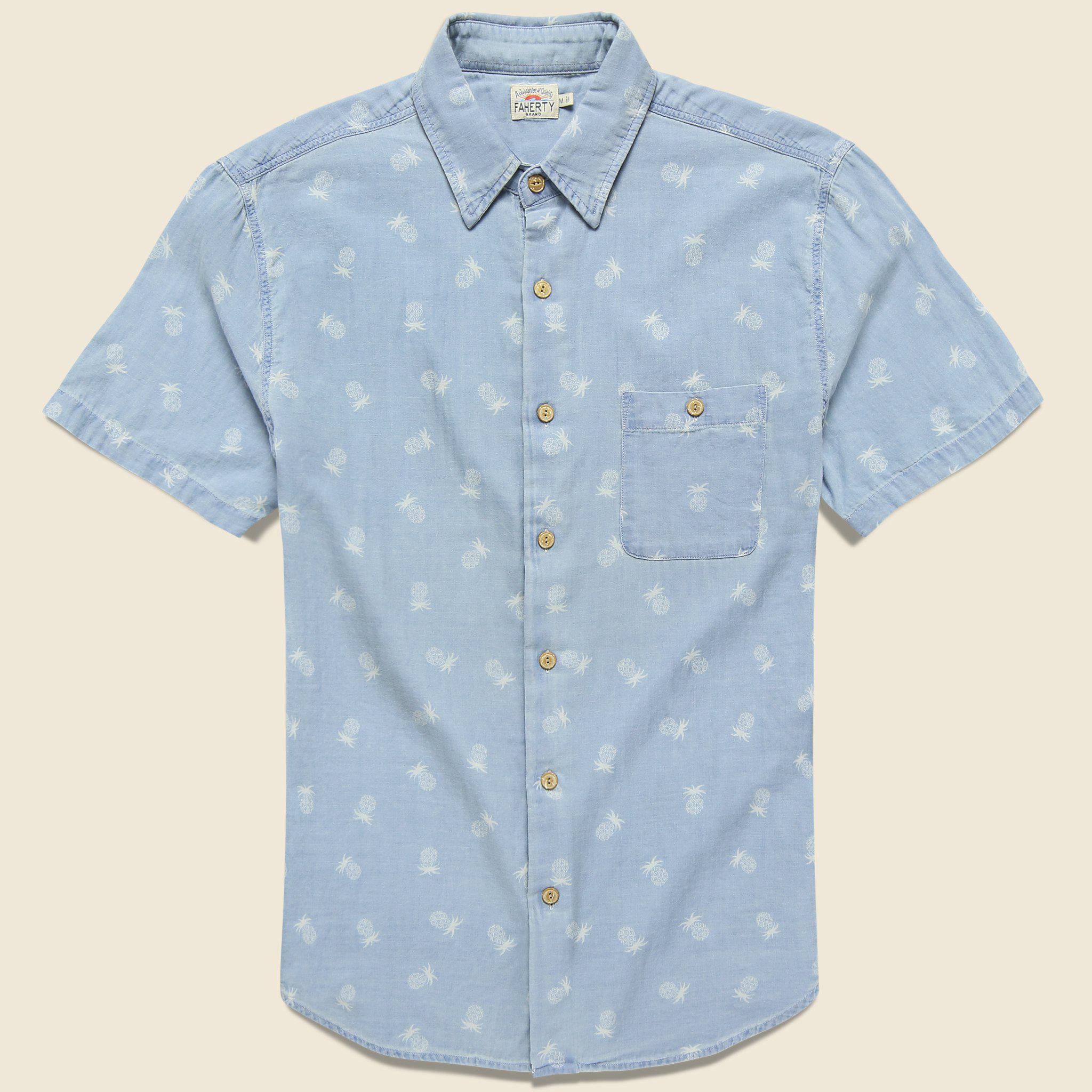 estampado piña de con Coast Camisa Faherty 5w1nd