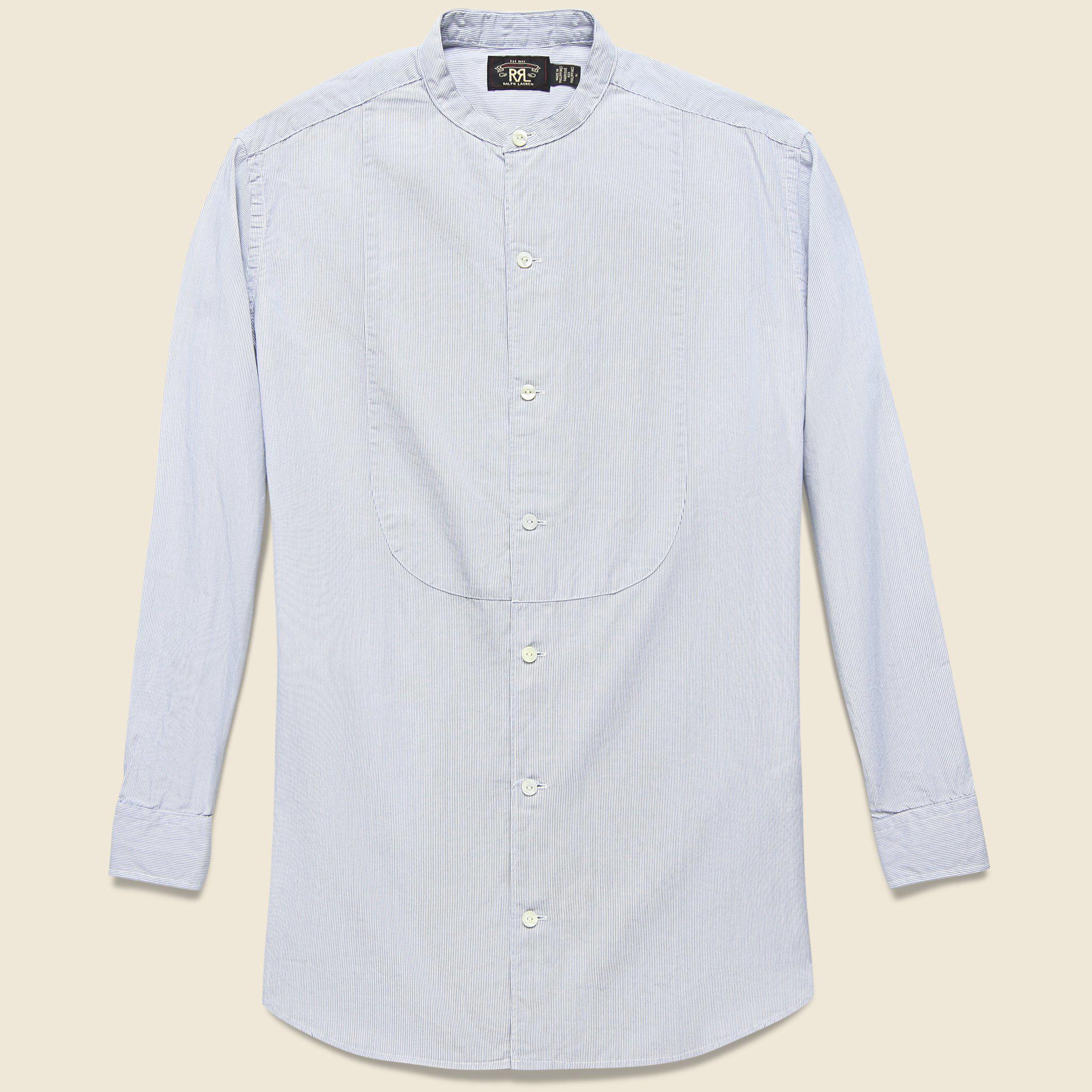 a9e8b922 Lyst - RRL Michelle Bib Shirt - Blue/white Stripe in Blue for Men