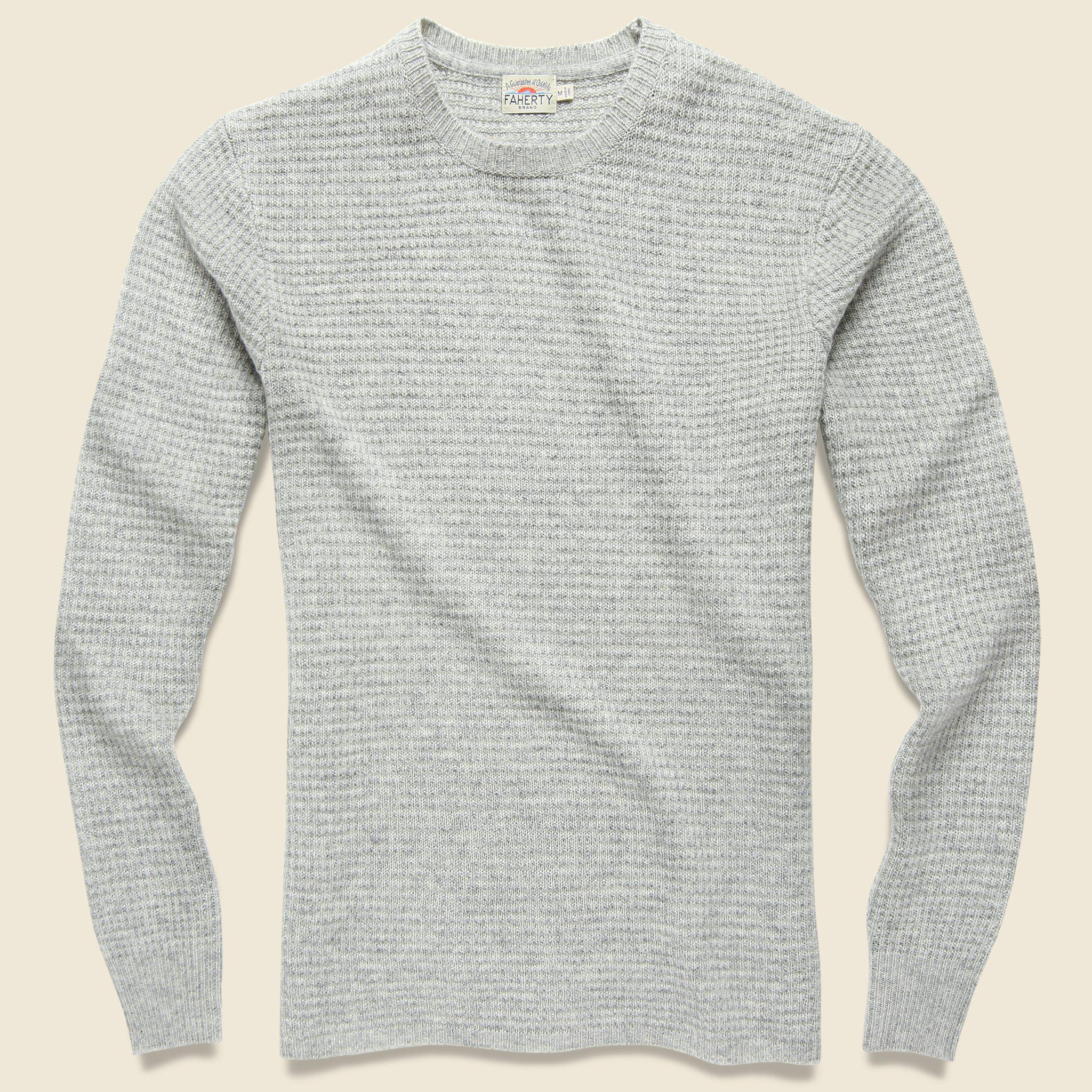 6aa99544a60b Lyst - Faherty Brand Cashmere Crewneck Sweater - Light Grey in Gray ...