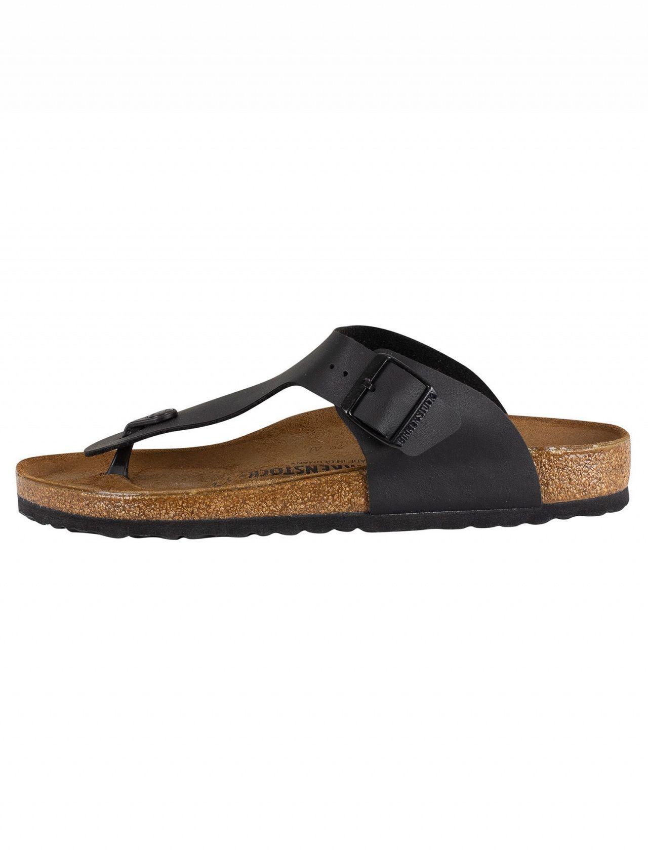 54d33dc2a Tap to visit site. Birkenstock - Men's Ramses Bs Leather Sandals, Black  Men's Mules / Casual Shoes In Black