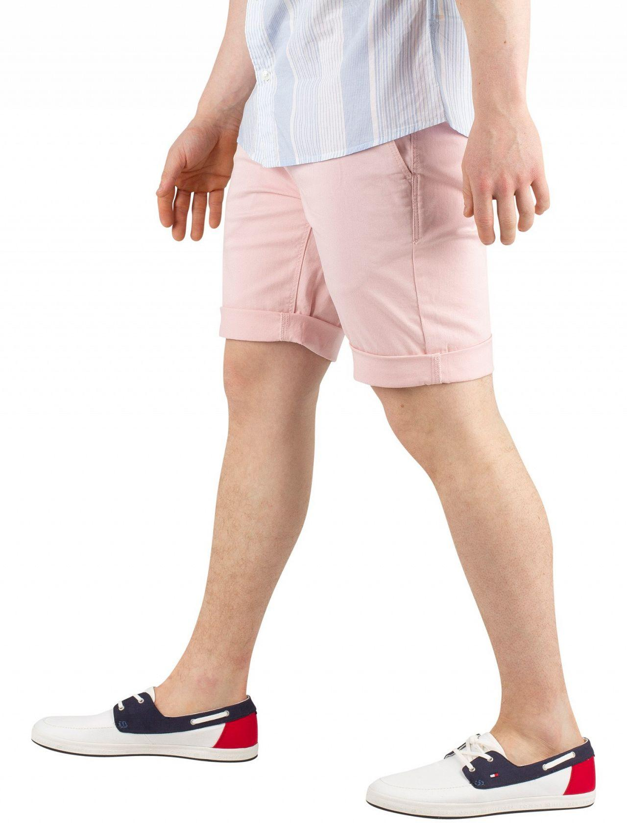 d13bf7c6 Tommy Hilfiger Peachskin Essential Chino Shorts in Pink for Men - Lyst