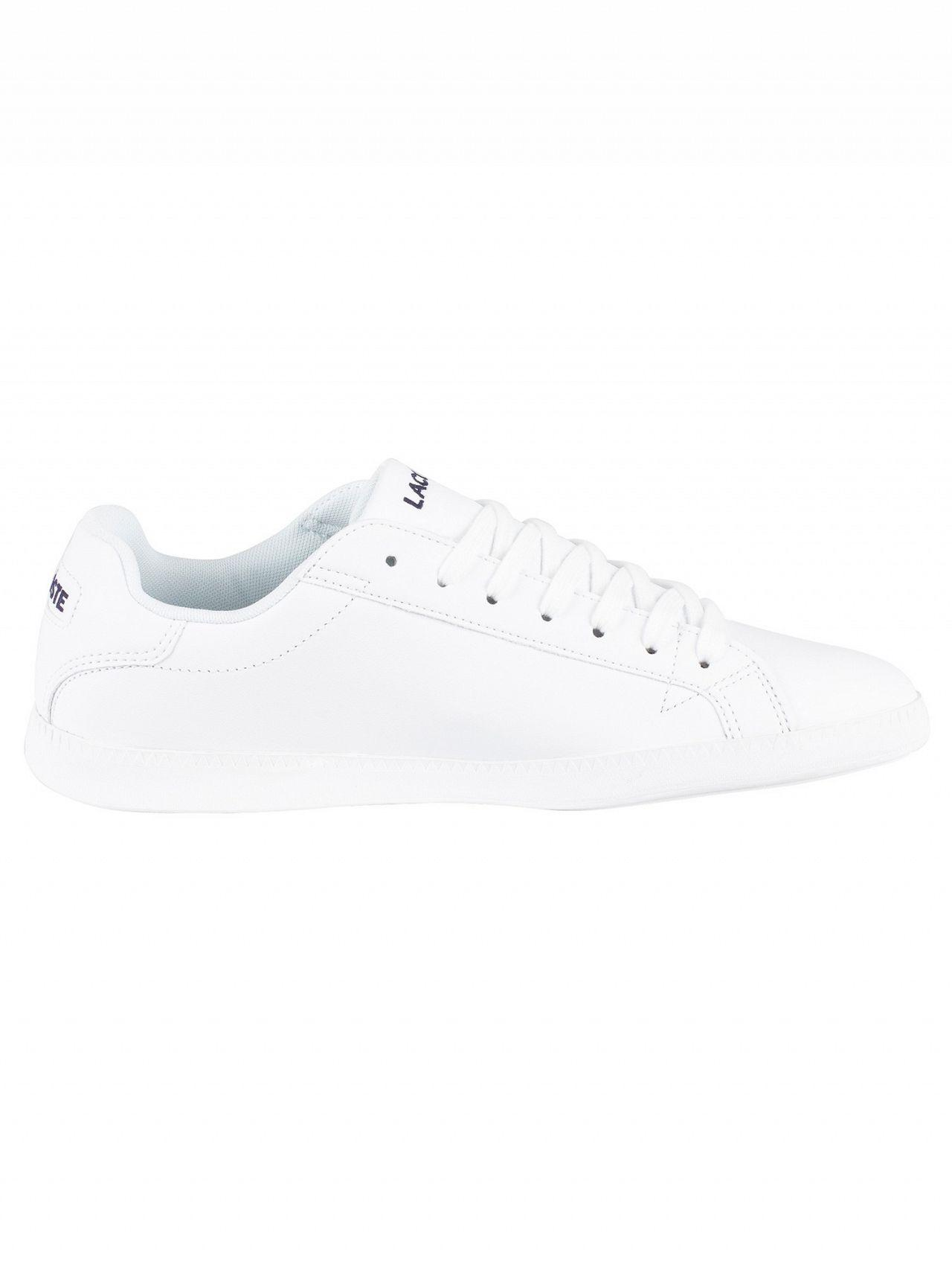 f37f06bf862b Lyst - Lacoste White white Graduate Bl 1 Leather Trainers in White ...