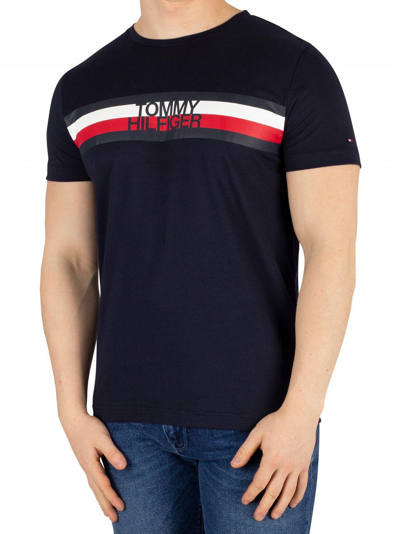 aecbd8b8 Tommy Hilfiger - Blue Sky Captain Logo T-shirt for Men - Lyst. View  fullscreen