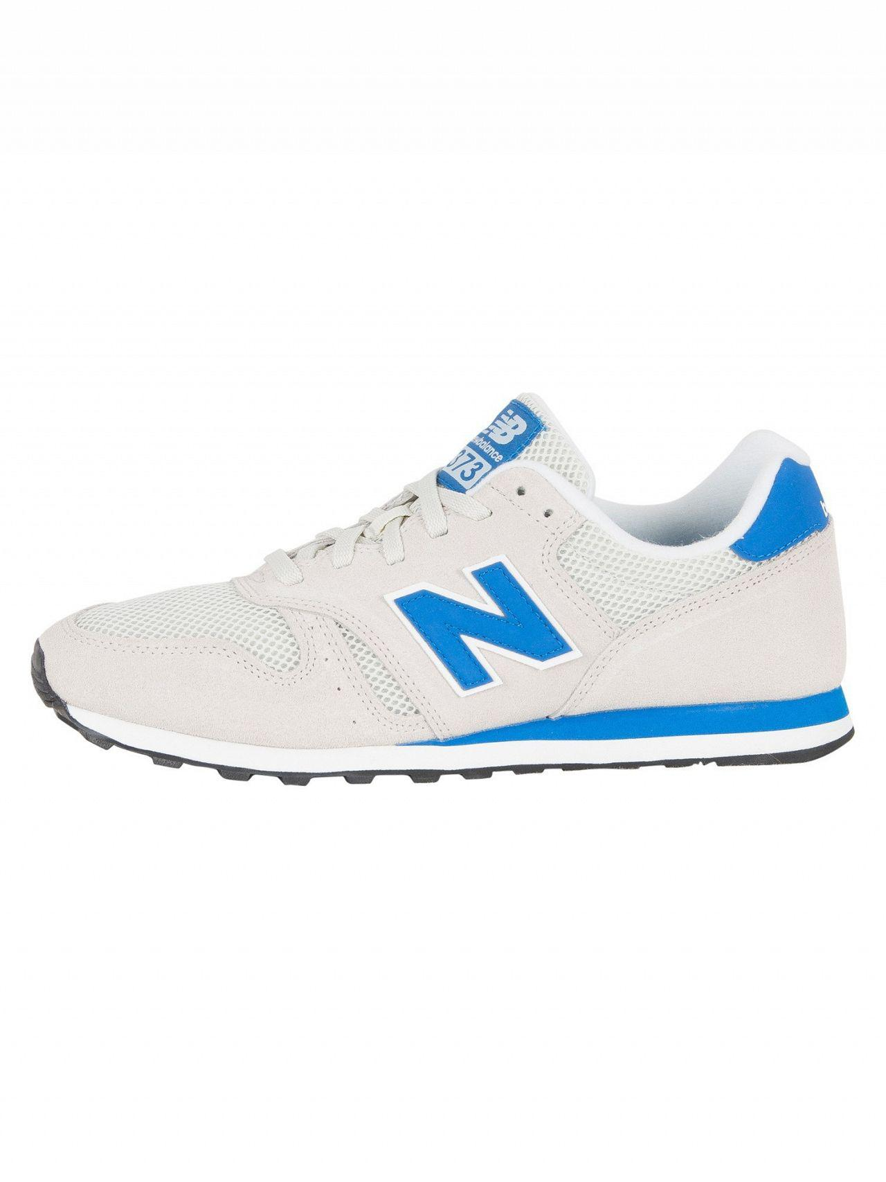 outlet store sale unique design where to buy New Balance Off White/blue 373 Suede Trainers for Men - Lyst