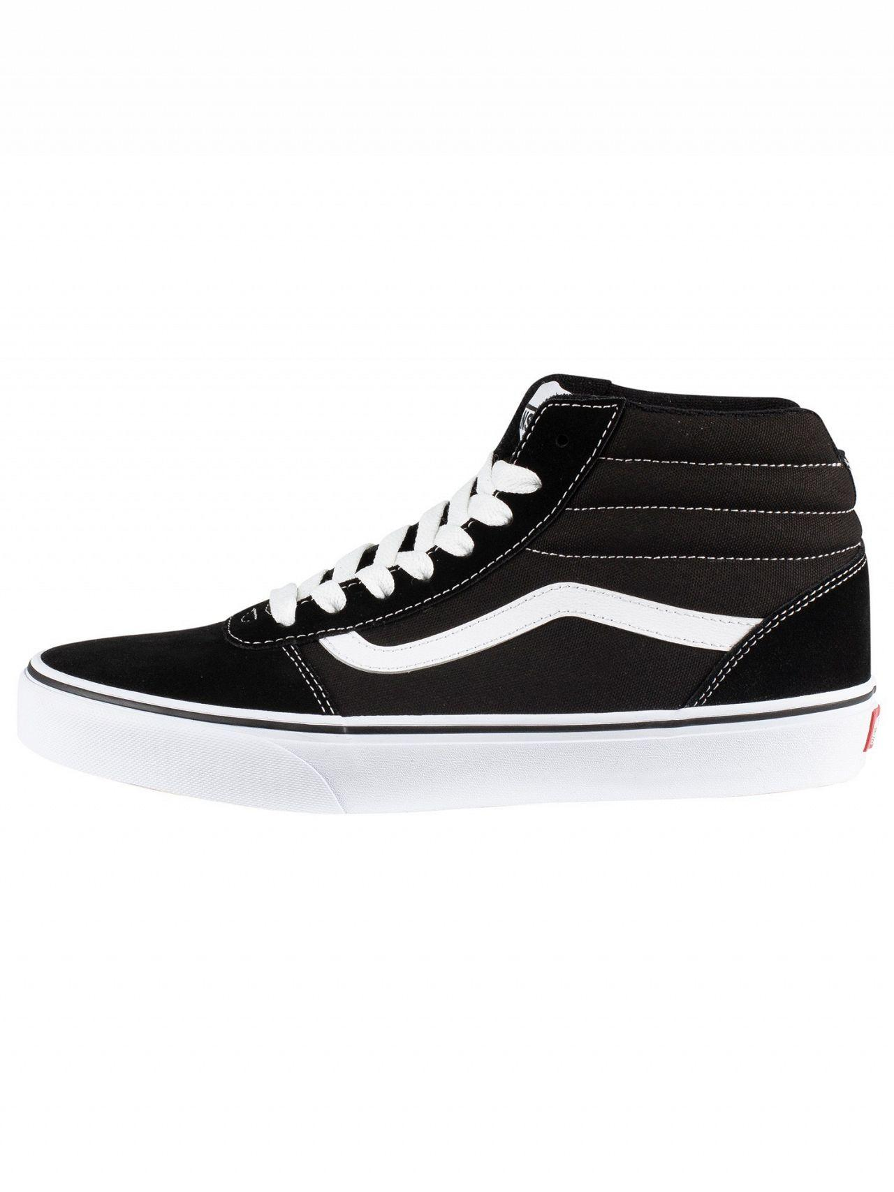 b04548090087 Vans - Black white Ward Hi Suede Canvas Trainers for Men - Lyst. View  fullscreen
