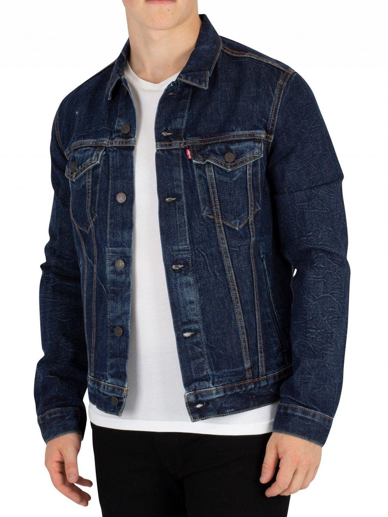 Lyst - Levi s Barrow Lane The Trucker Jacket in Blue for Men - Save 21% 8d1e4a5eb47