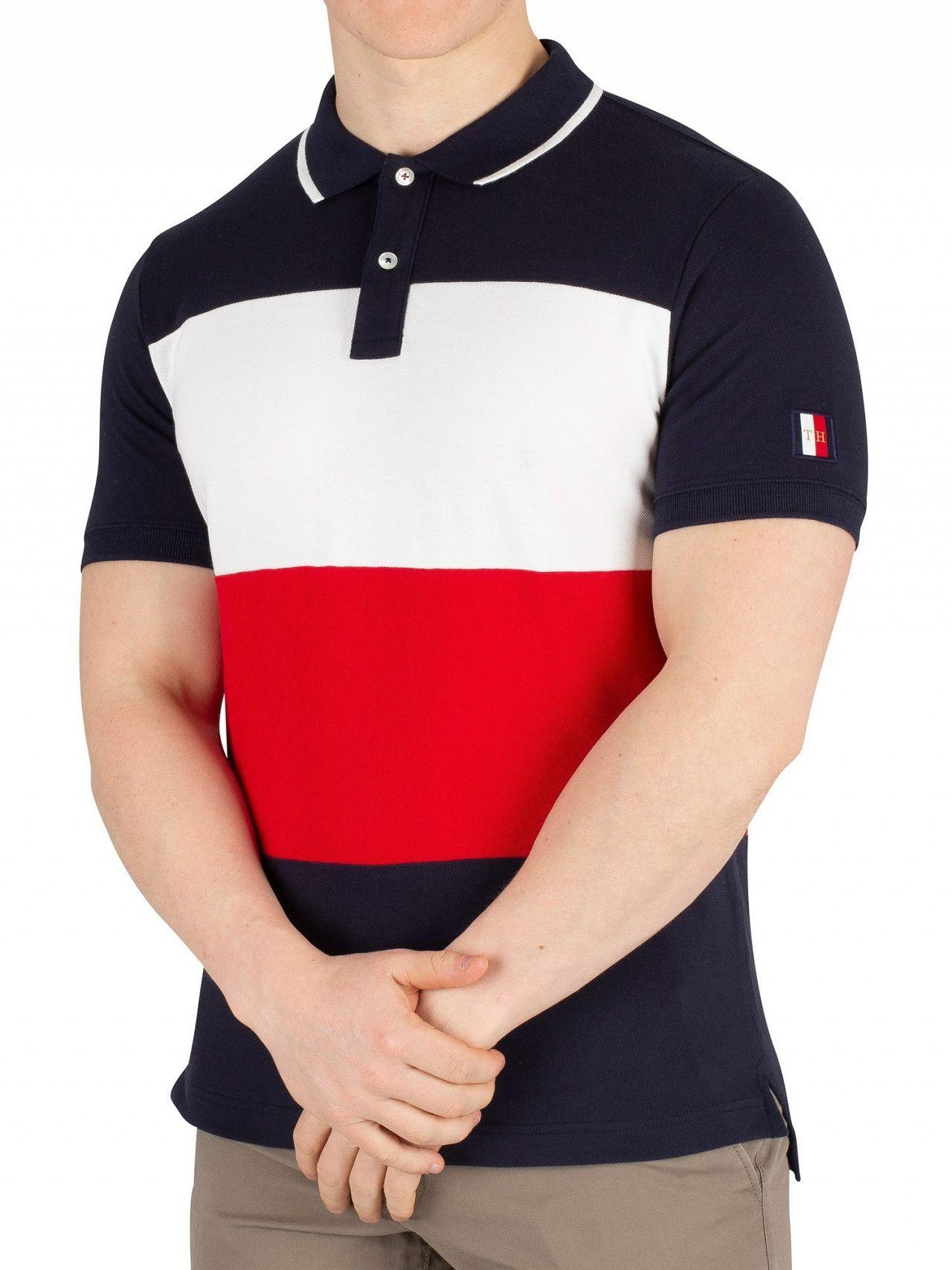 6a1d53edc Lyst - Tommy Hilfiger Sky Captain Icon Colourblock Slim Poloshirt in ...