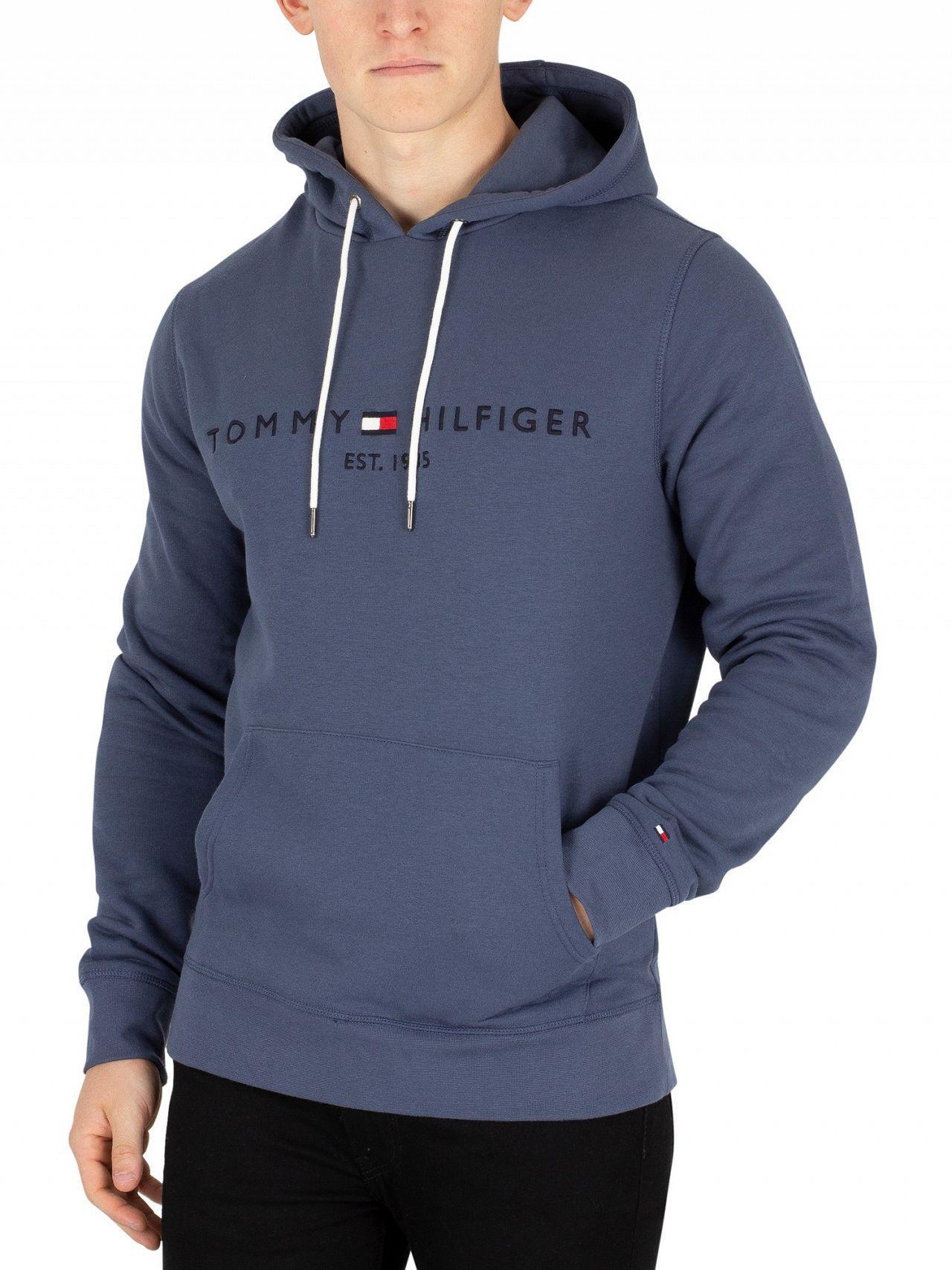 e9d177805 Tommy Hilfiger Vintage Indigo Logo Pullover Hoodie in Blue for Men ...