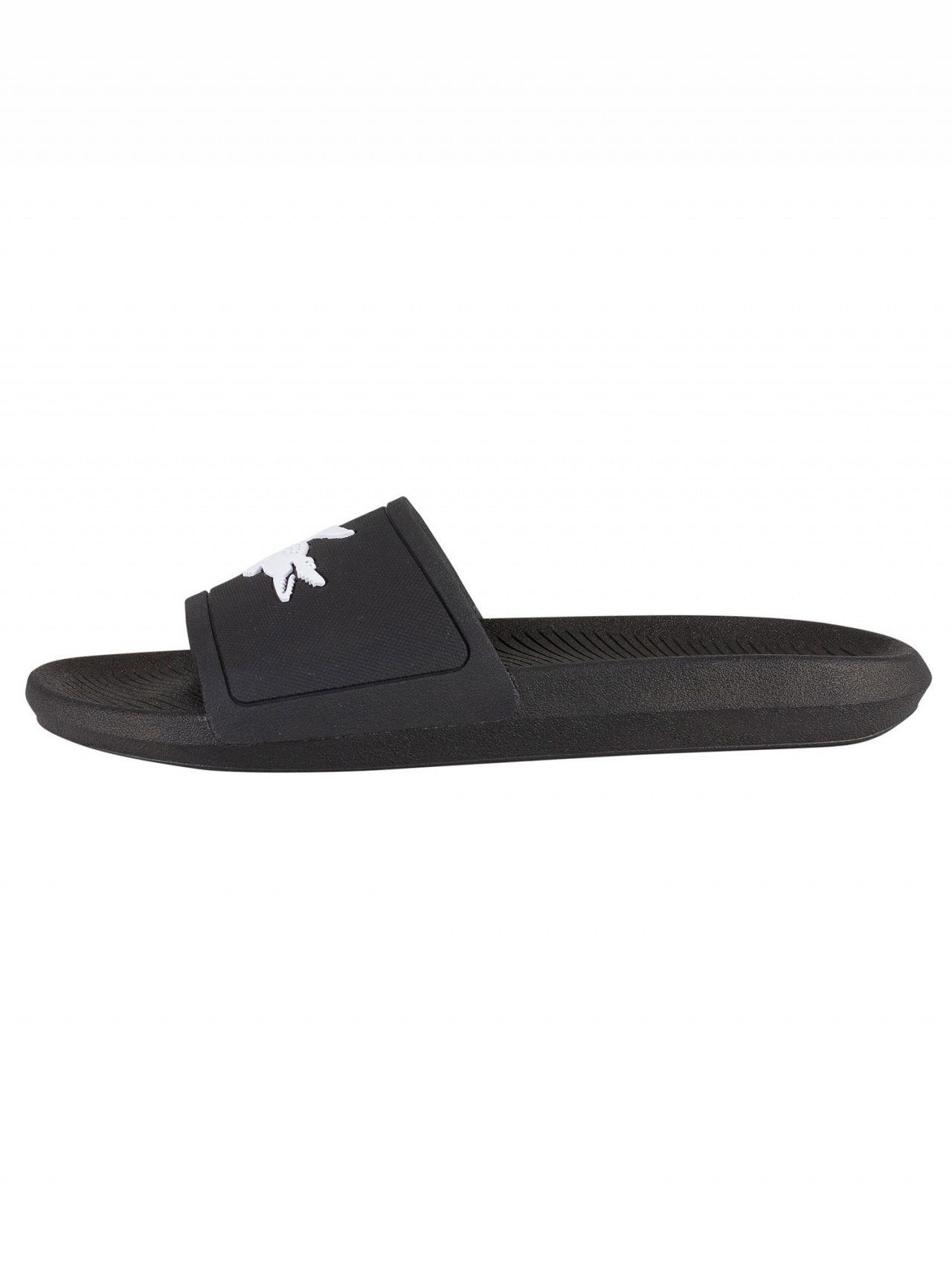 459e42b0f33368 Lyst - Lacoste Black Flip-flops With Contrasting Logo in Black for Men -  Save 31%