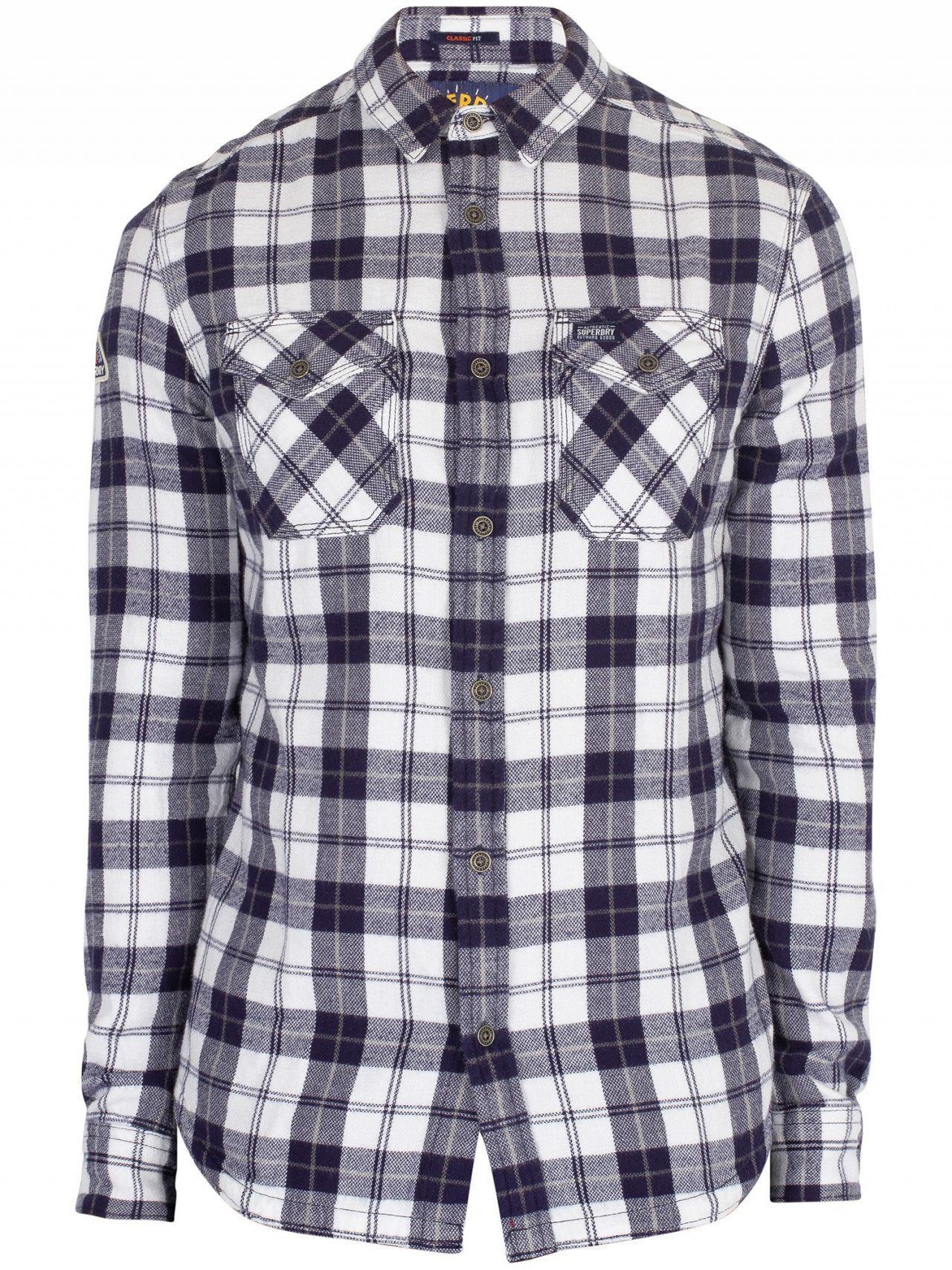 a1efd23751 Superdry - Broken Twill White Rookie Ridge Shirt for Men - Lyst. View  fullscreen