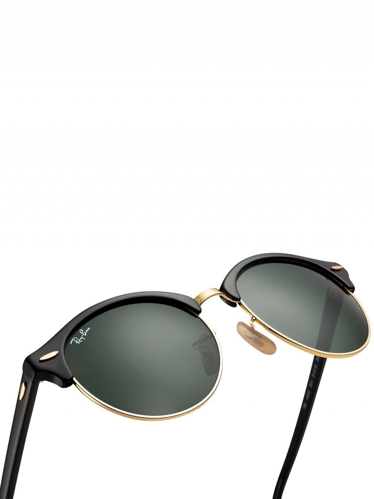 d0f8a4228cd480 Ray-Ban Black Rb4246 Clubround Sunglasses in Black for Men - Lyst