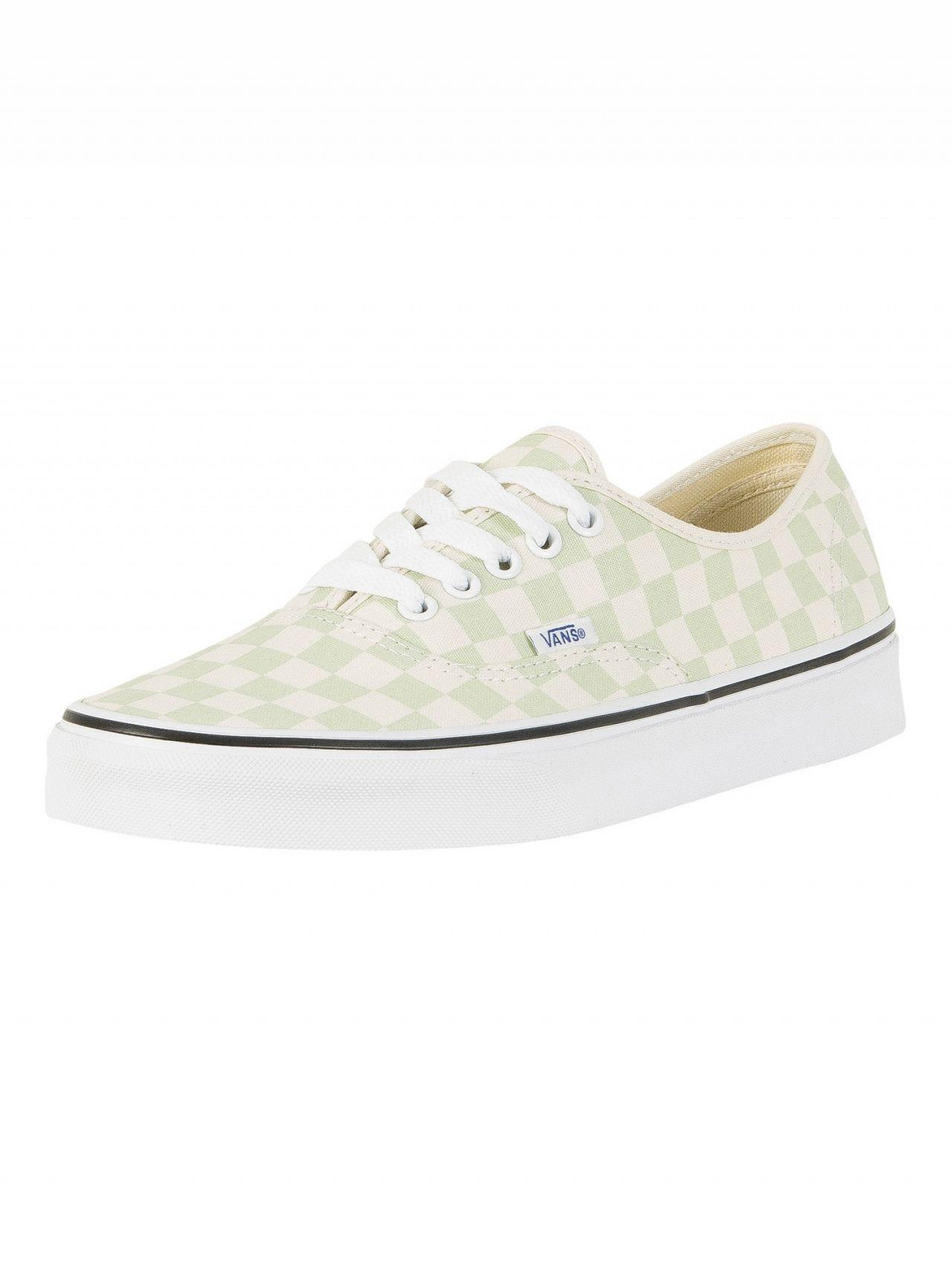 Lyst - Vans Ambrosia Authentic Checkerboard Trainers in White for Men 49f06c680