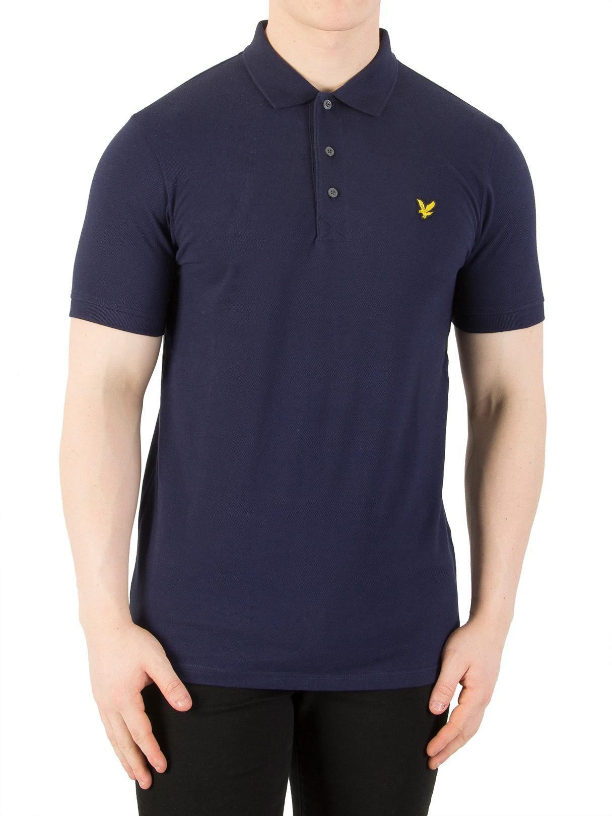 190a7574b3b Lyst - Lyle   Scott Navy Logo Polo Shirt in Blue for Men