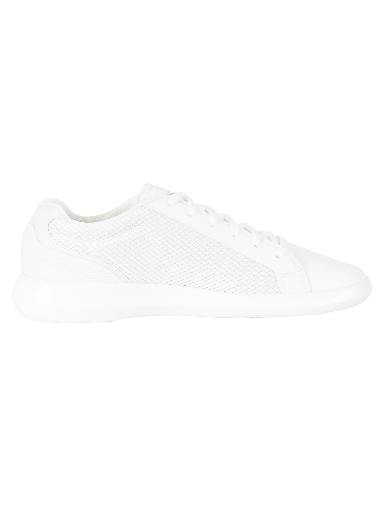 26049cfedcd1bd Lyst - Lacoste White off White Avantor 118 3 Spm Trainers in White