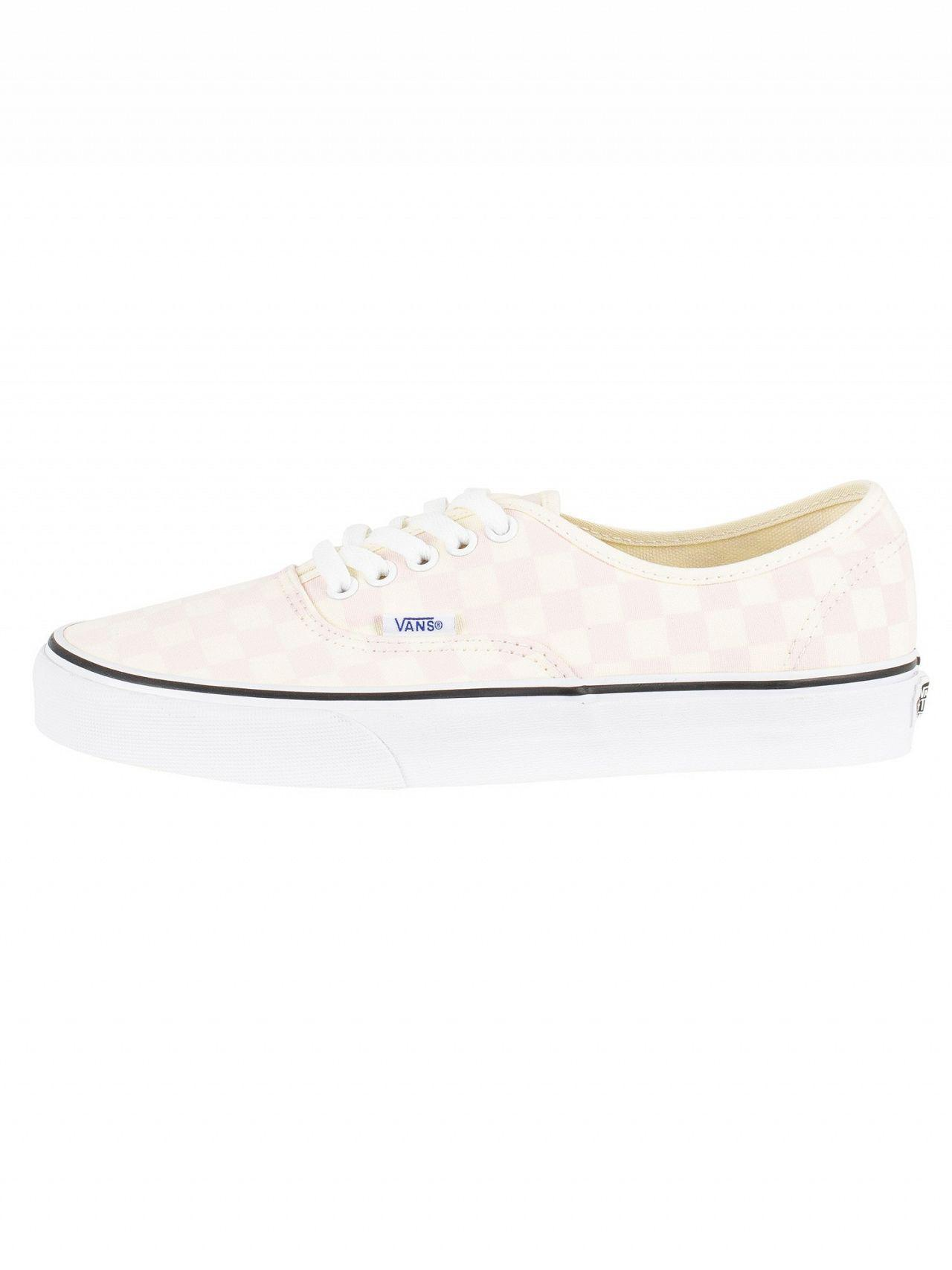 Vans - White Chalk Pink Authentic Checkerboard Trainers for Men - Lyst.  View fullscreen cfb63b705