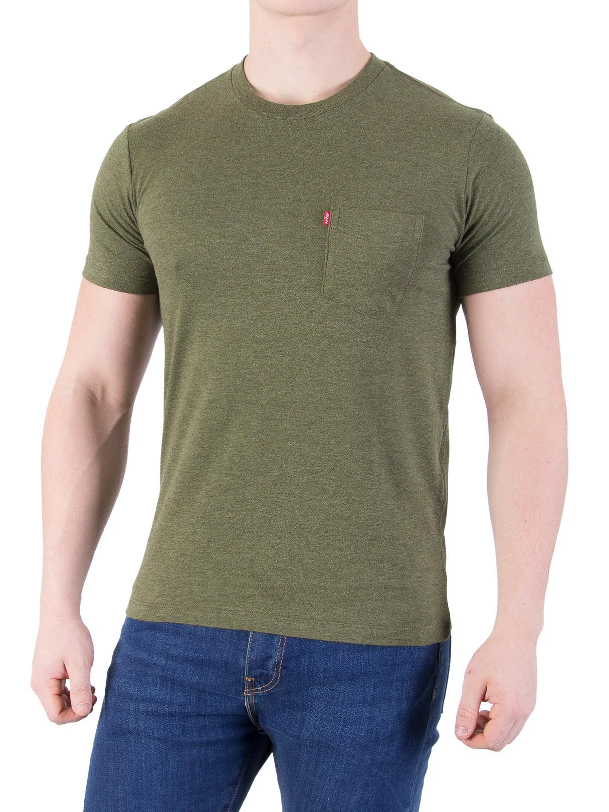 c8752524 Levi's Sea Moss Setin Sunset Pocket T-shirt in Green for Men - Lyst