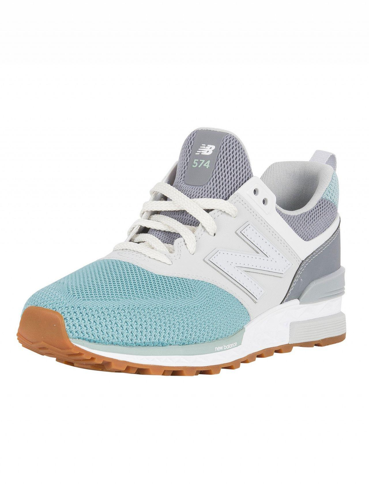 04e3ece99b9a New Balance Gunmetal storm Blue 574 Trainers in Blue for Men - Lyst