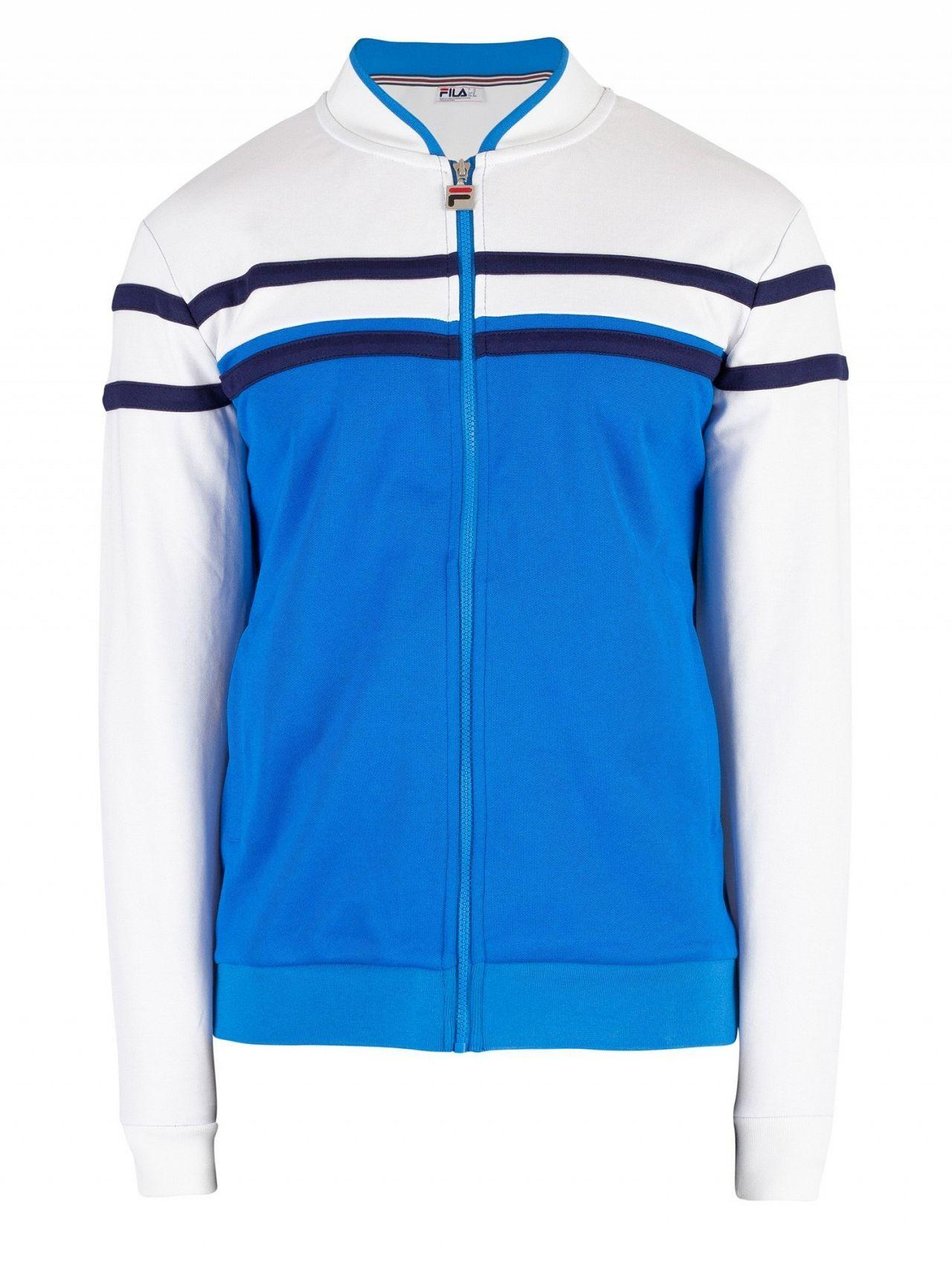 aa4aa8814ce Fila Directoire Blue/white/peacoat Naso Chest Stripe Track Jacket in ...