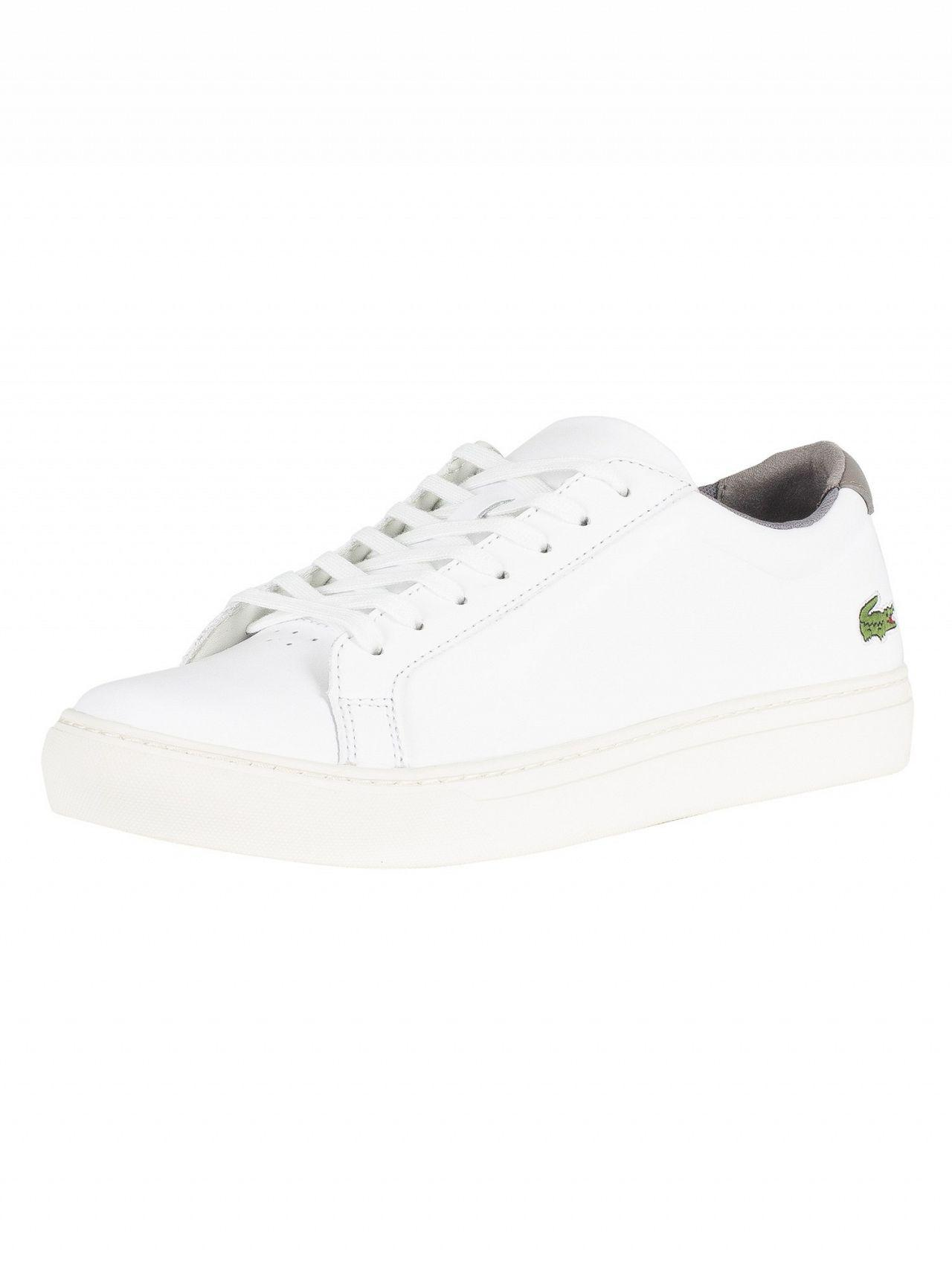 ae4ec0797 Lacoste. Men s White grey L.12.12 317 4 Cam Leather Trainers. £100 From ...