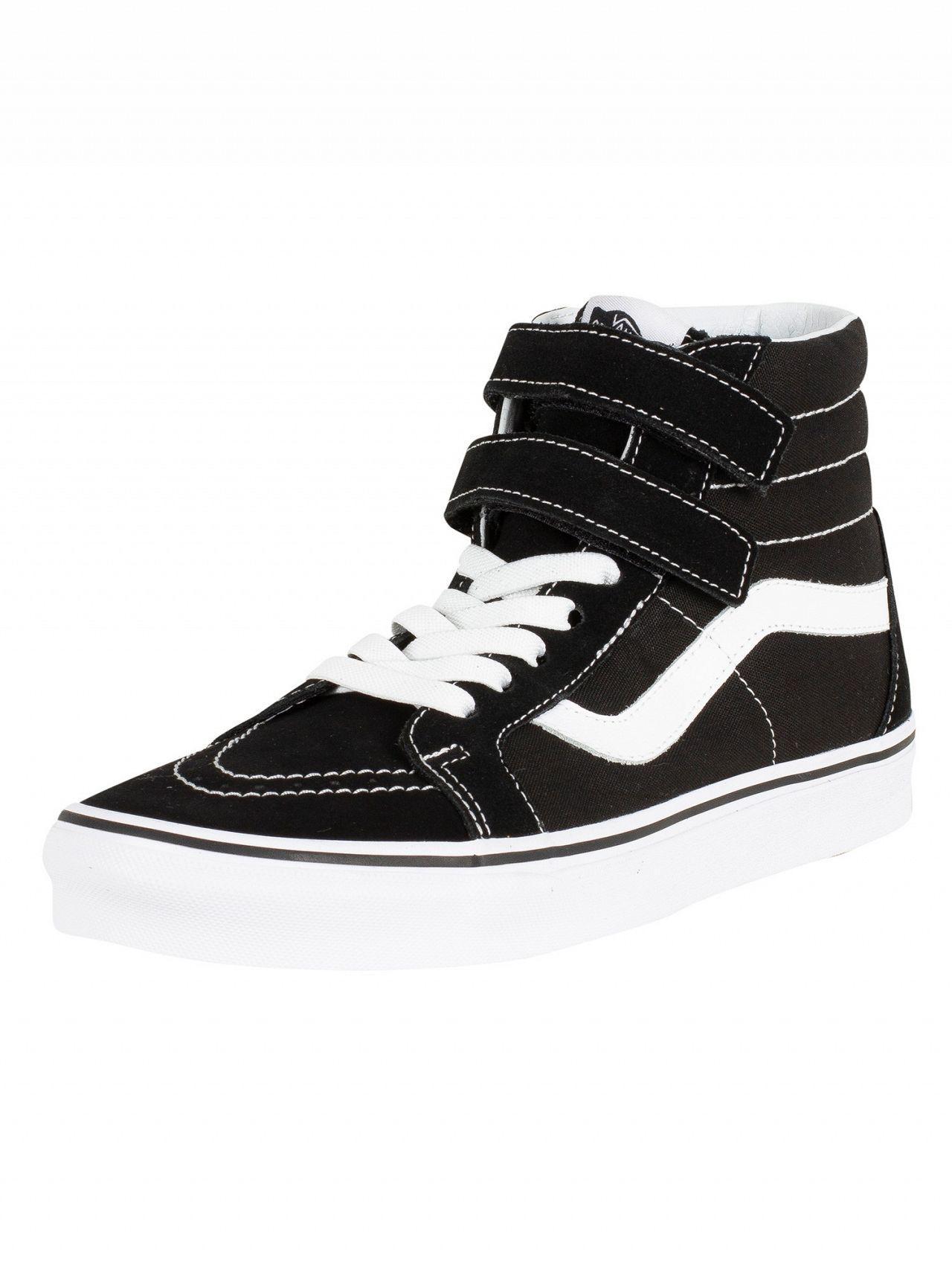 bb0e6583b2 Lyst - Vans Black true White Sk8-hi Reissue V Trainers in Black for Men
