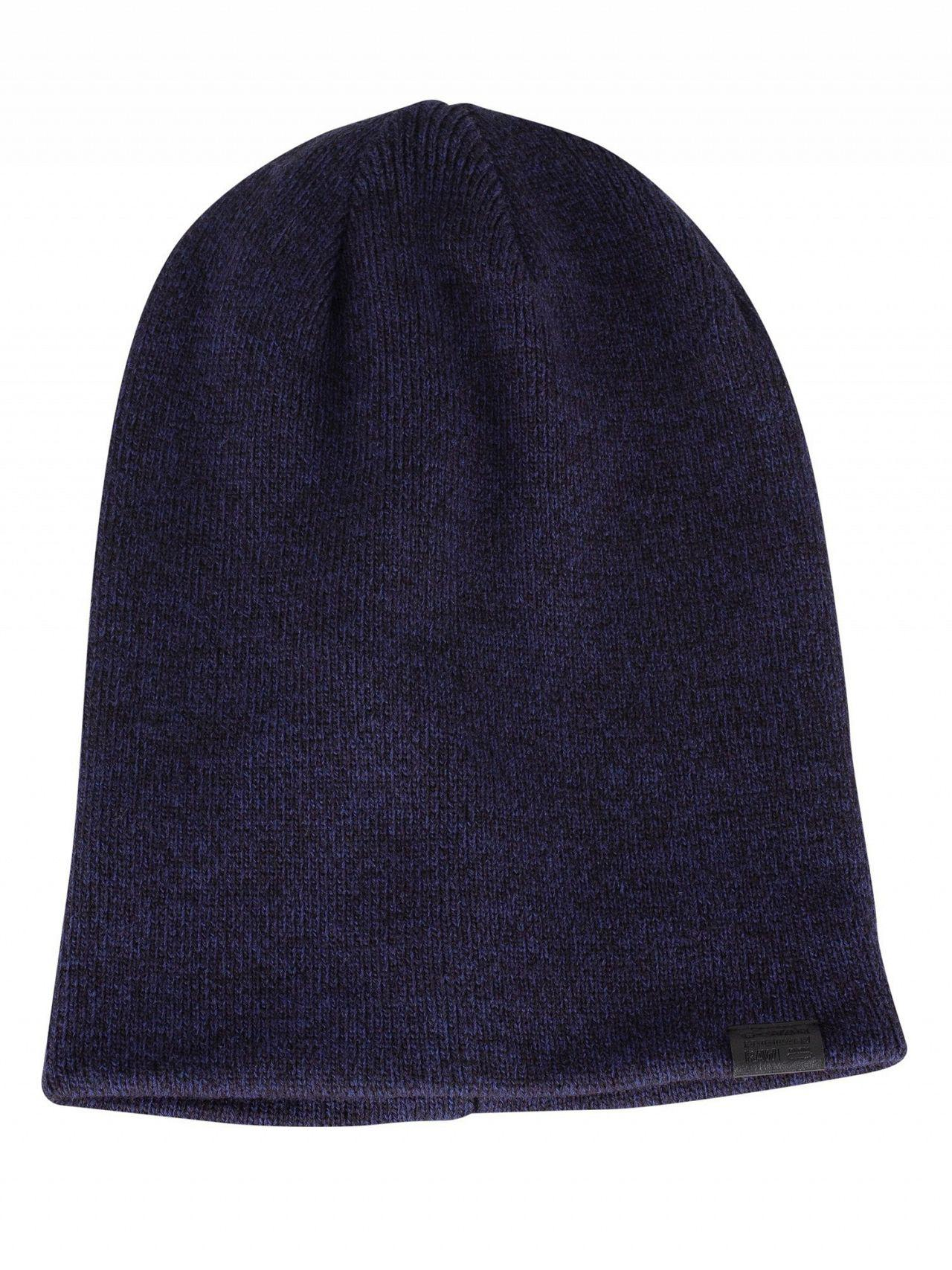 Lyst - G-Star Raw Dark Blue imperial Blue Effo Long Beanie in Blue ... f6604eee7723