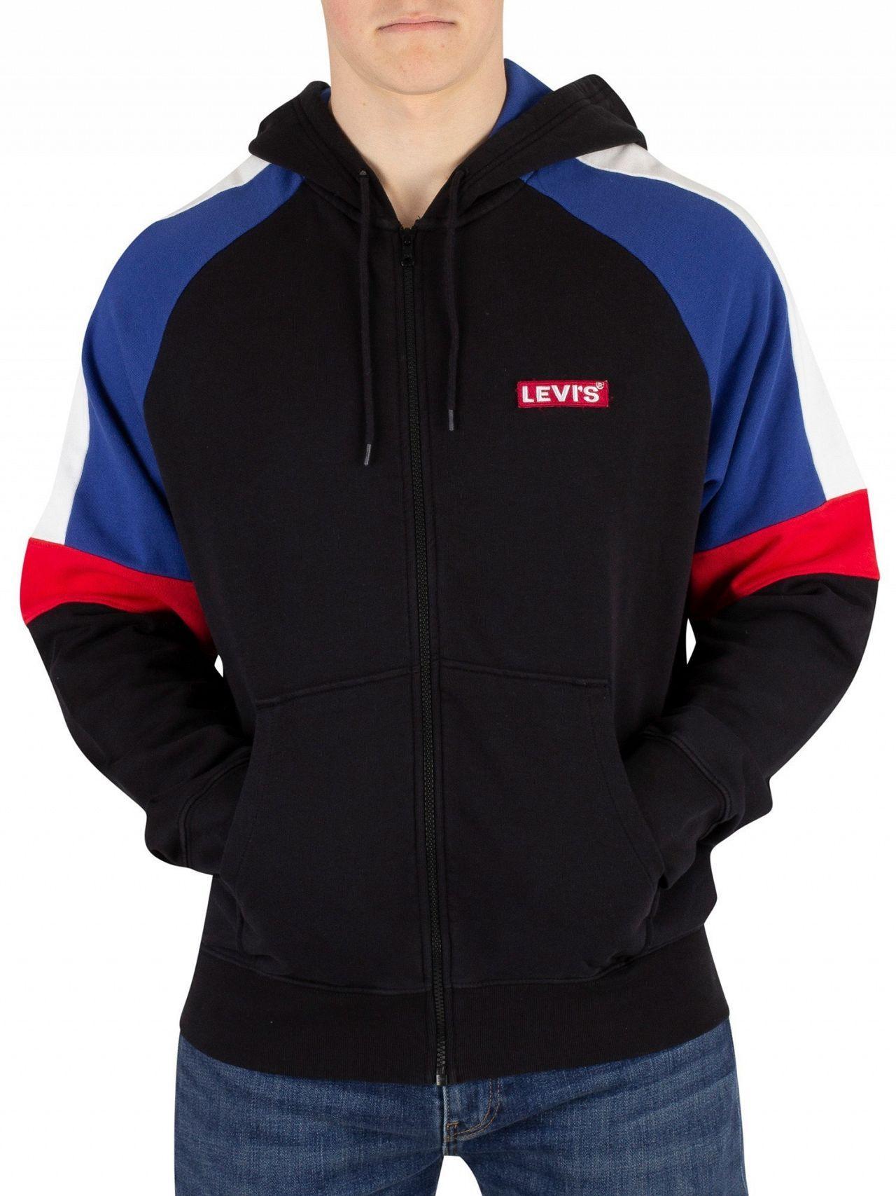 bd7b70eef6c9 Lyst - Levi's Navy Pieced Zip Hoodie in Blue for Men