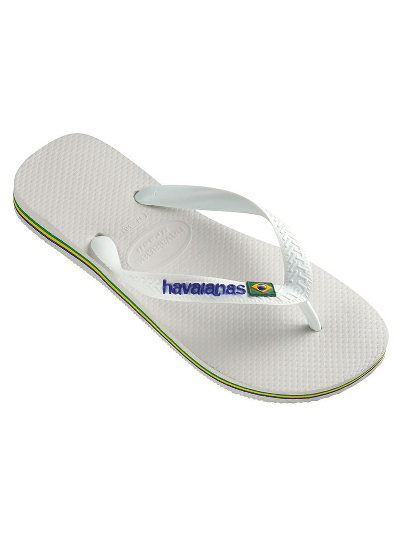 fd33c57ffa5b4 Lyst - Havaianas White Brazil Logo Flip Flops in White for Men
