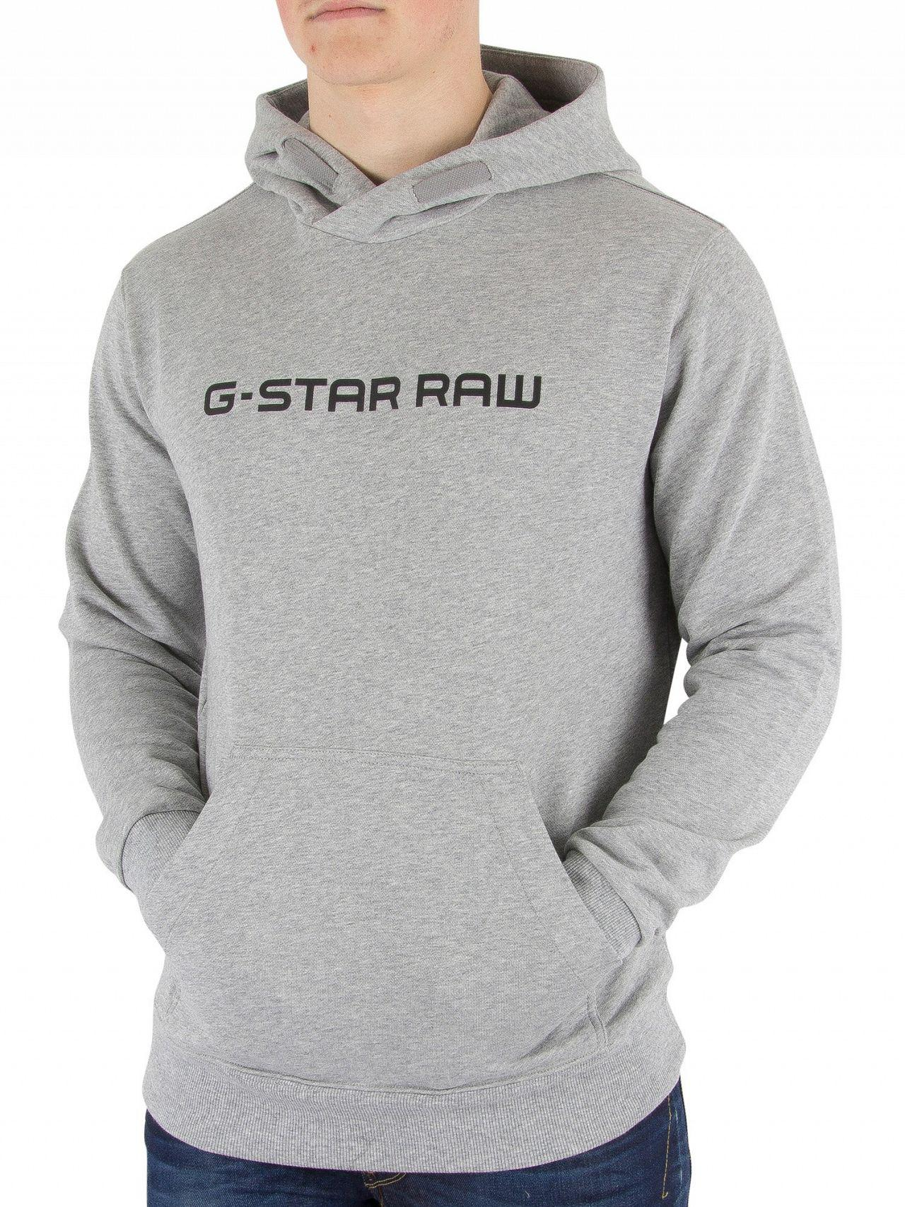 g star raw grey heather loaq pullover hoodie in gray for. Black Bedroom Furniture Sets. Home Design Ideas