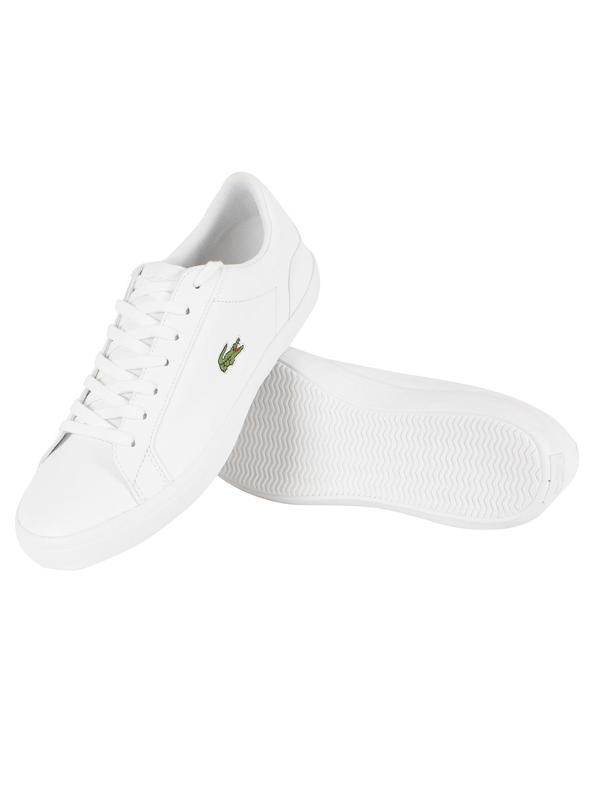04cc58801 Lacoste White Lerond Bl 1 Cam Trainers in White for Men - Lyst