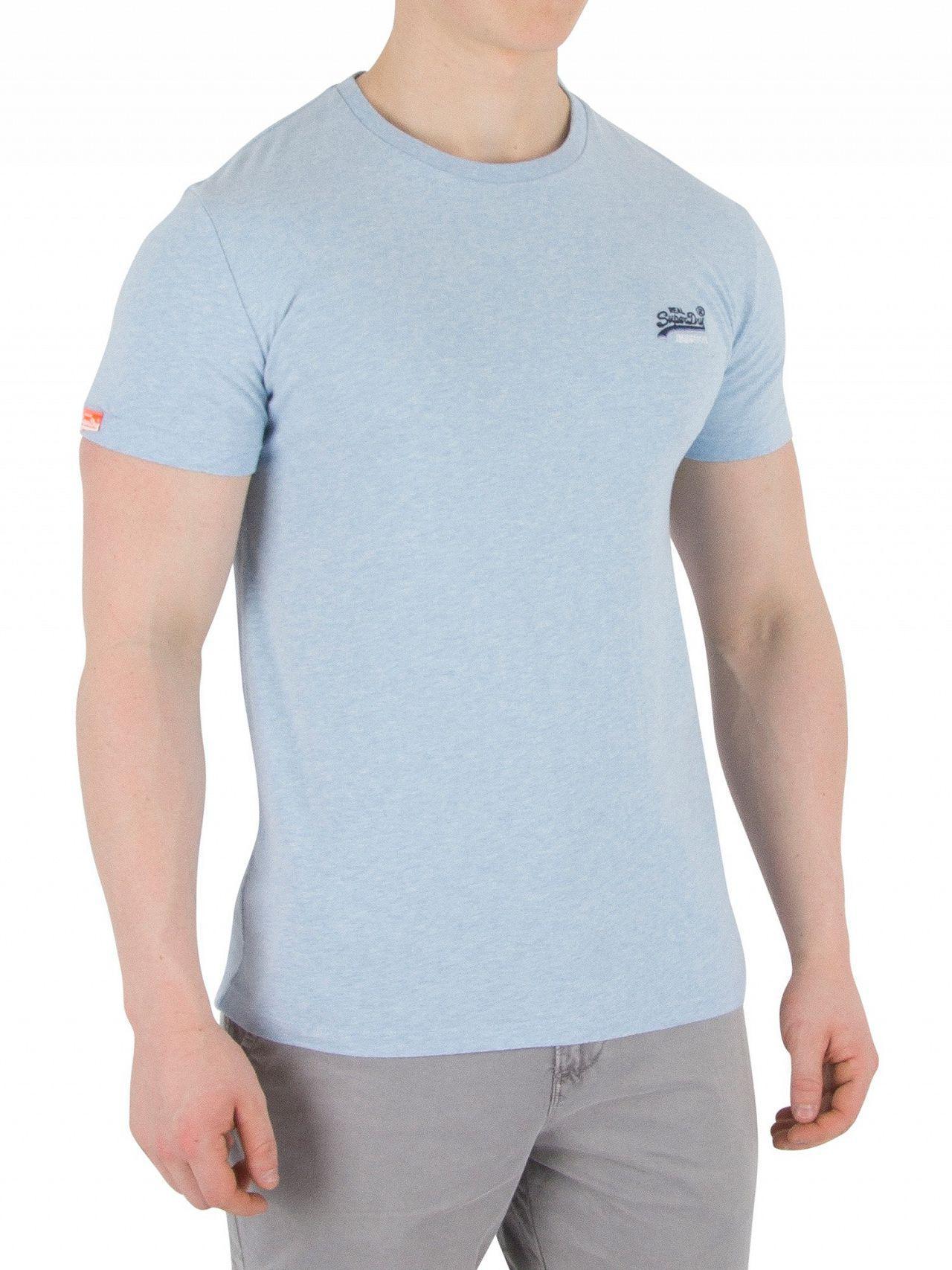 99797644 Superdry Pastel Blue Marl Orange Label Vintage Emb T-shirt in Blue ...