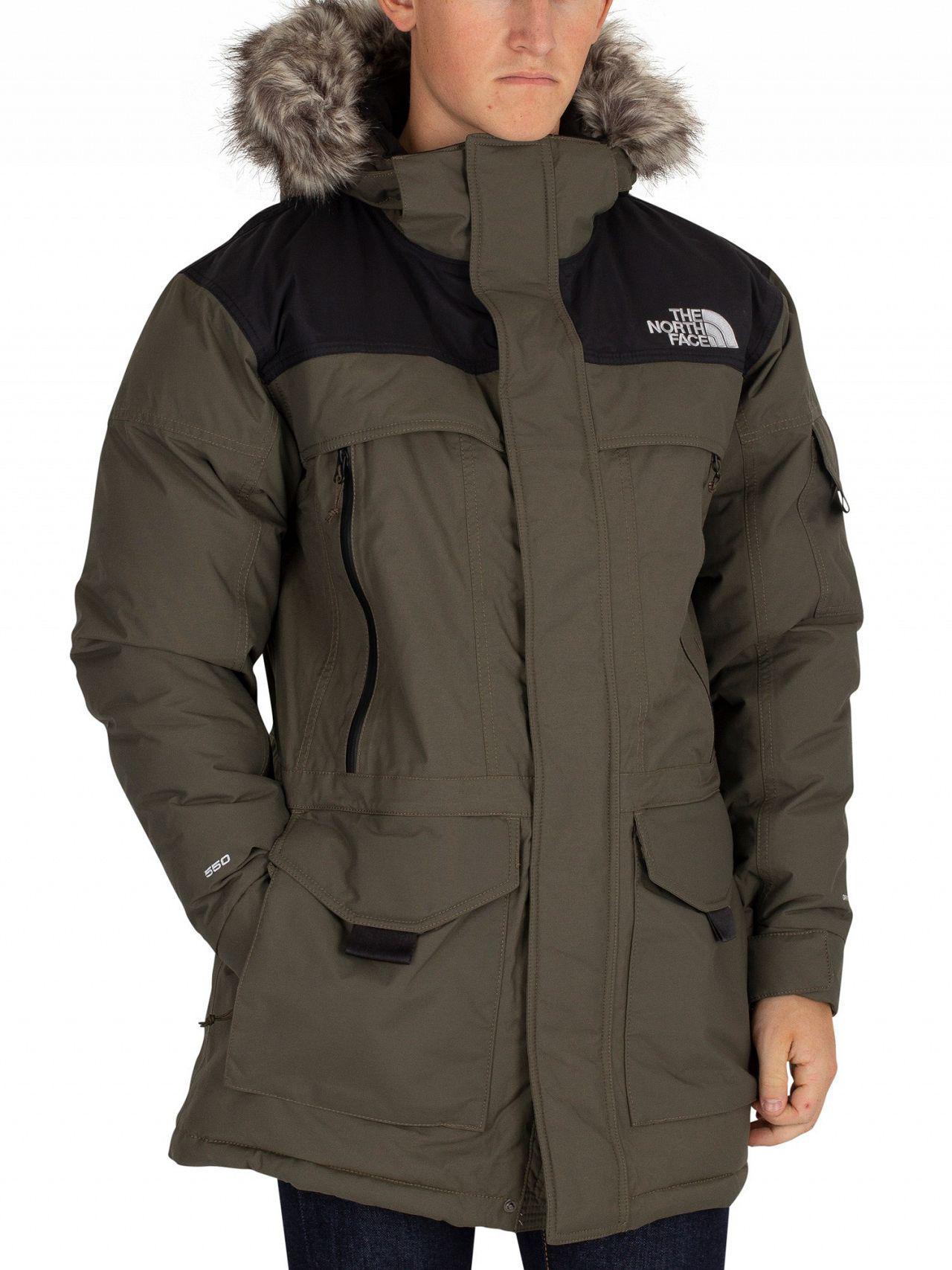8f2cebb4ea The North Face Green black Murdo Parka Jacket in Green for Men - Lyst