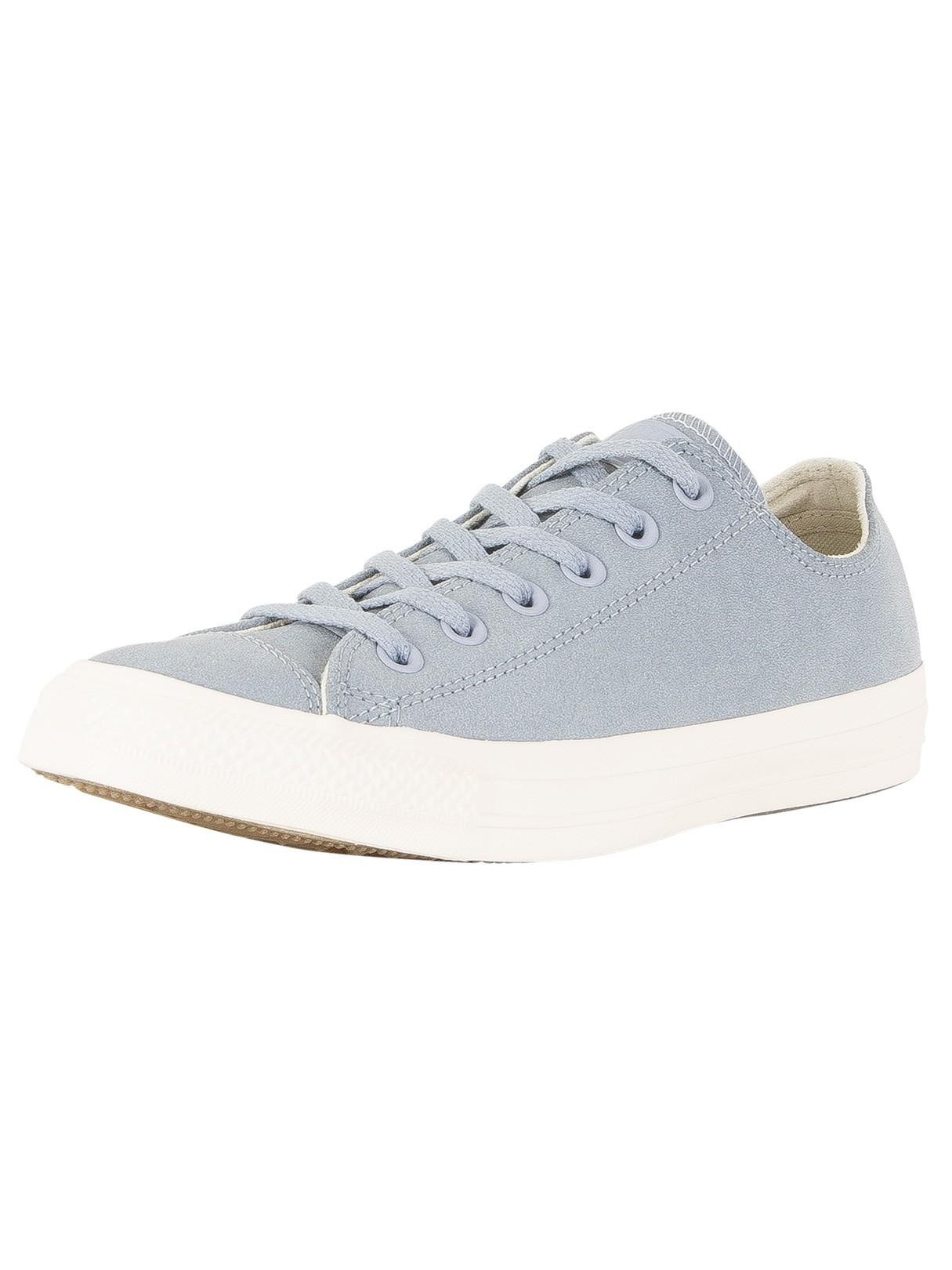Womens CTAS Ox Glacier Grey White Trainers Converse