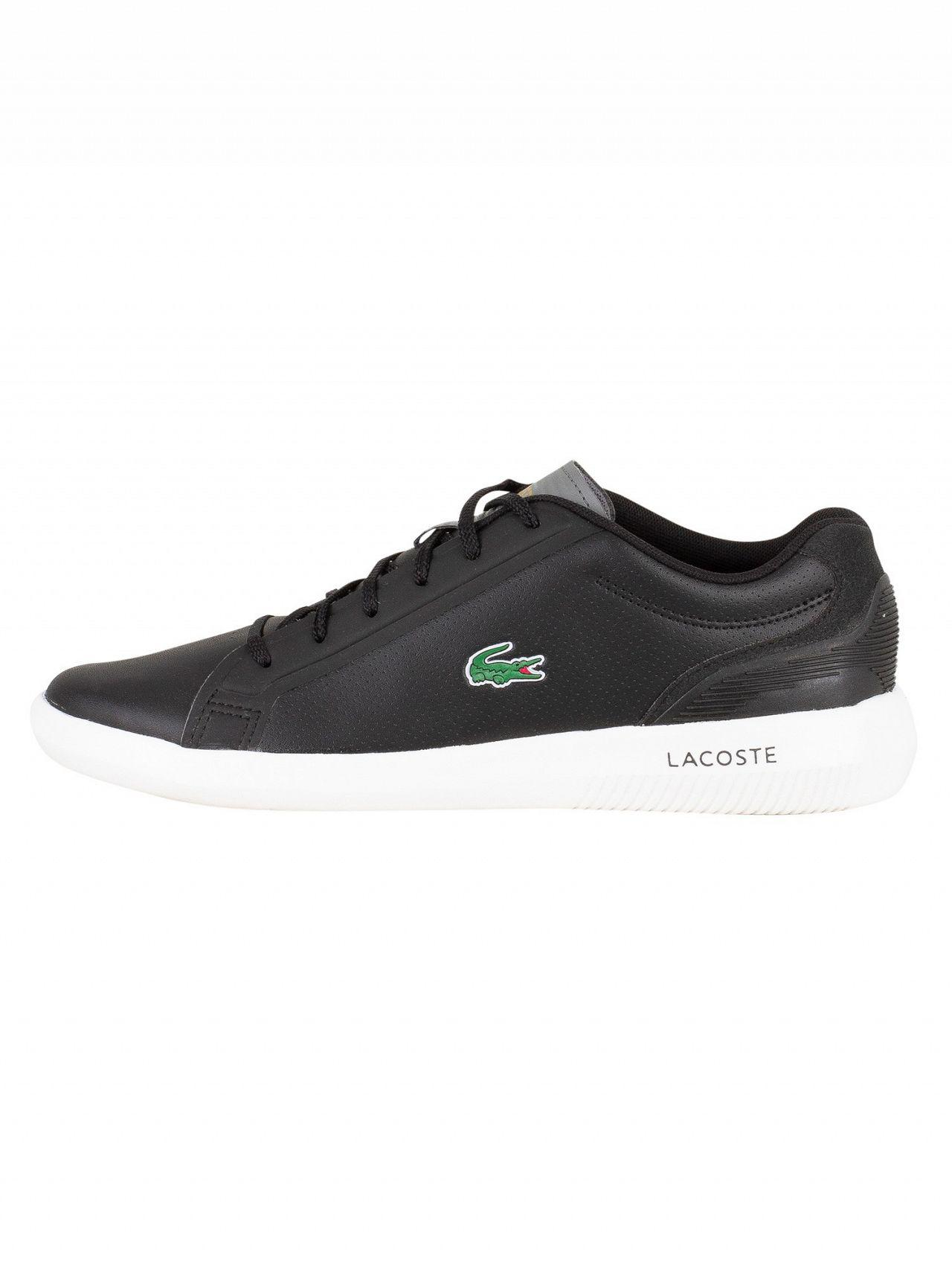 0db40595e700c4 Lyst - Lacoste Black dark Grey Avantor 318 3 Spm Trainers in Black ...