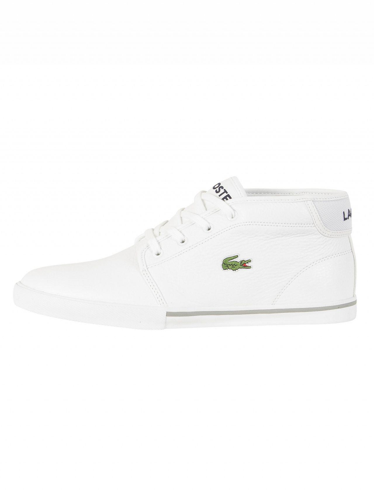 e17ce0881f3cde Lyst - Lacoste White white Ampthill Lcr3 Spm Trainers in White for Men