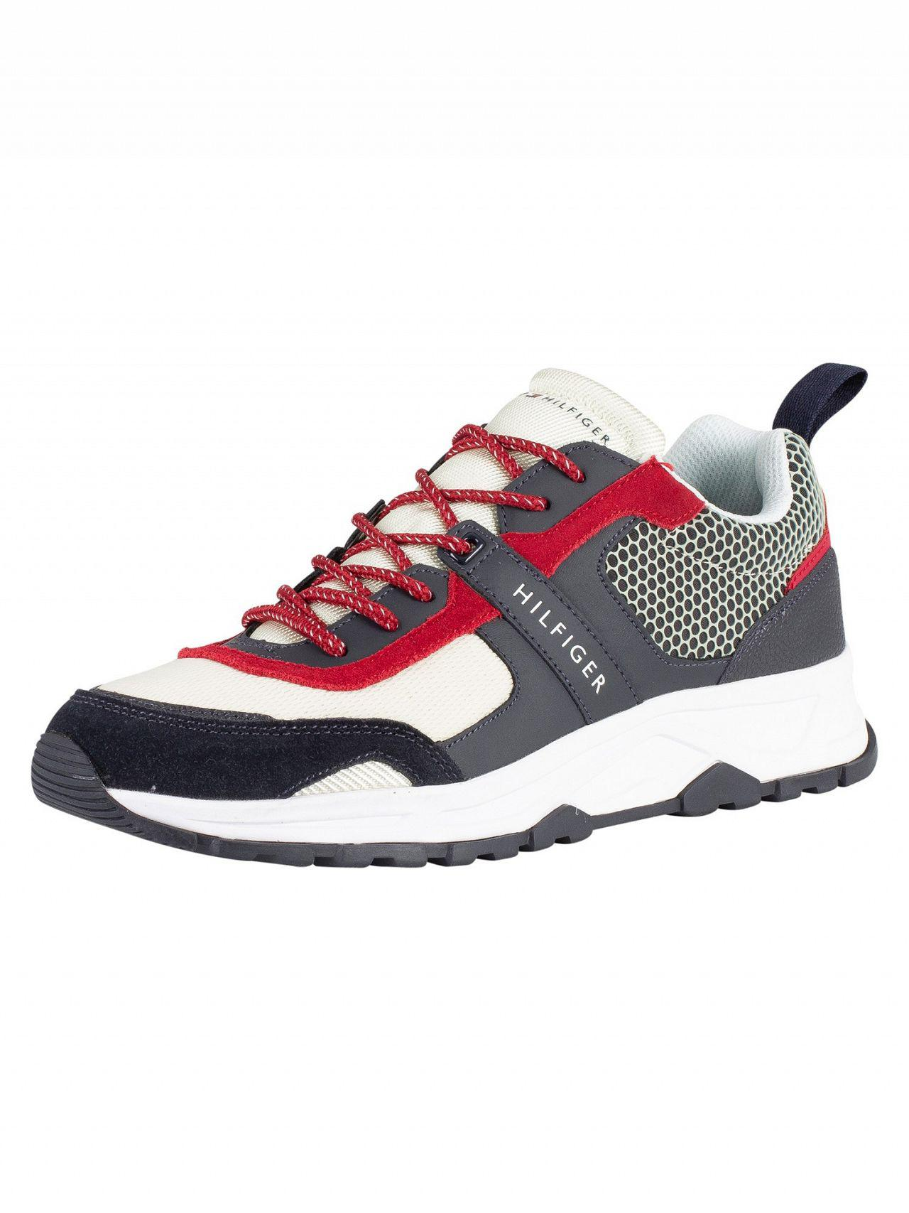 037fbd317 Tommy Hilfiger Black beige Material Mix Lightweight Trainers in ...