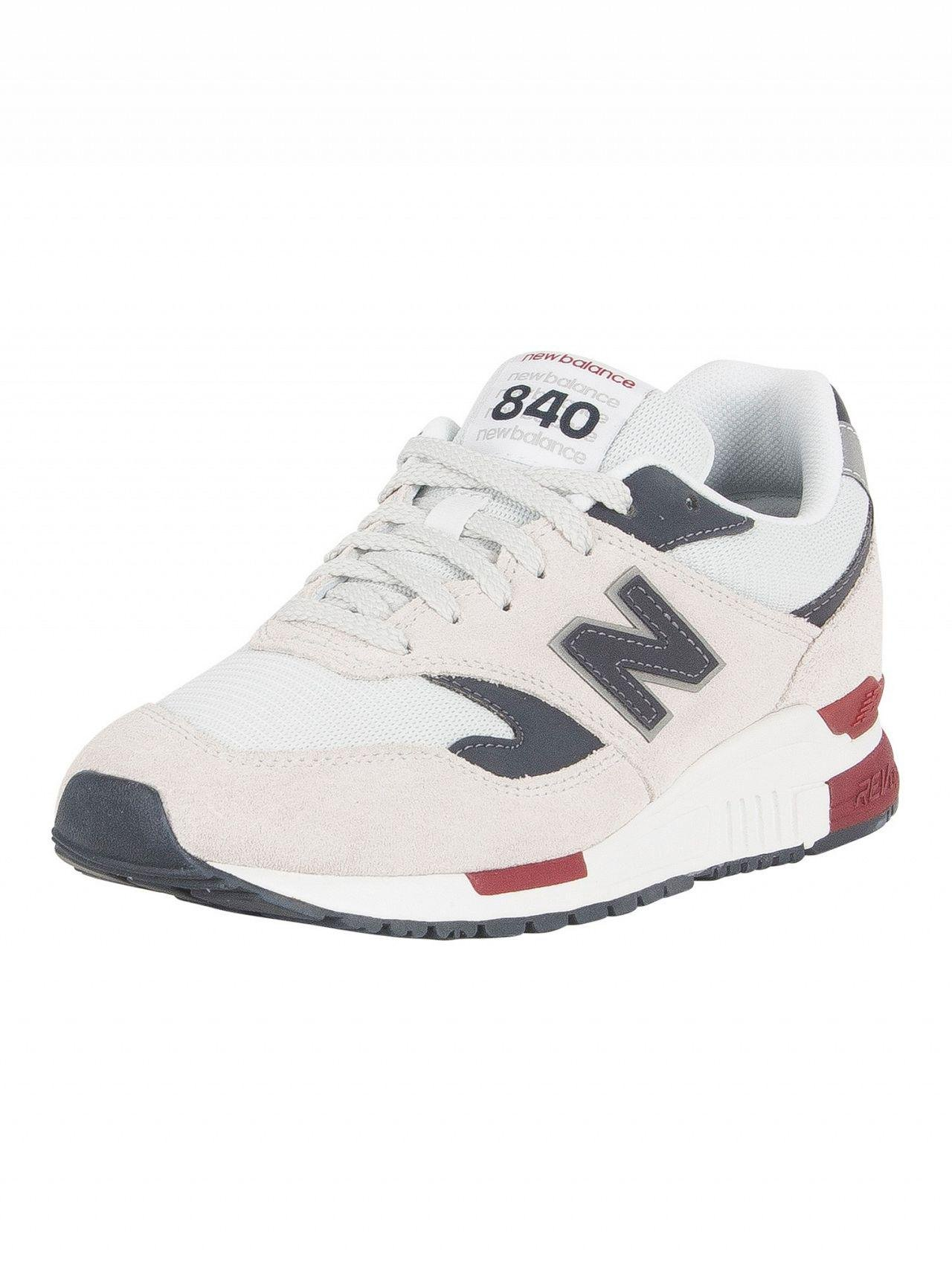 New Balance. Pigment/white 840 Suede Trainers