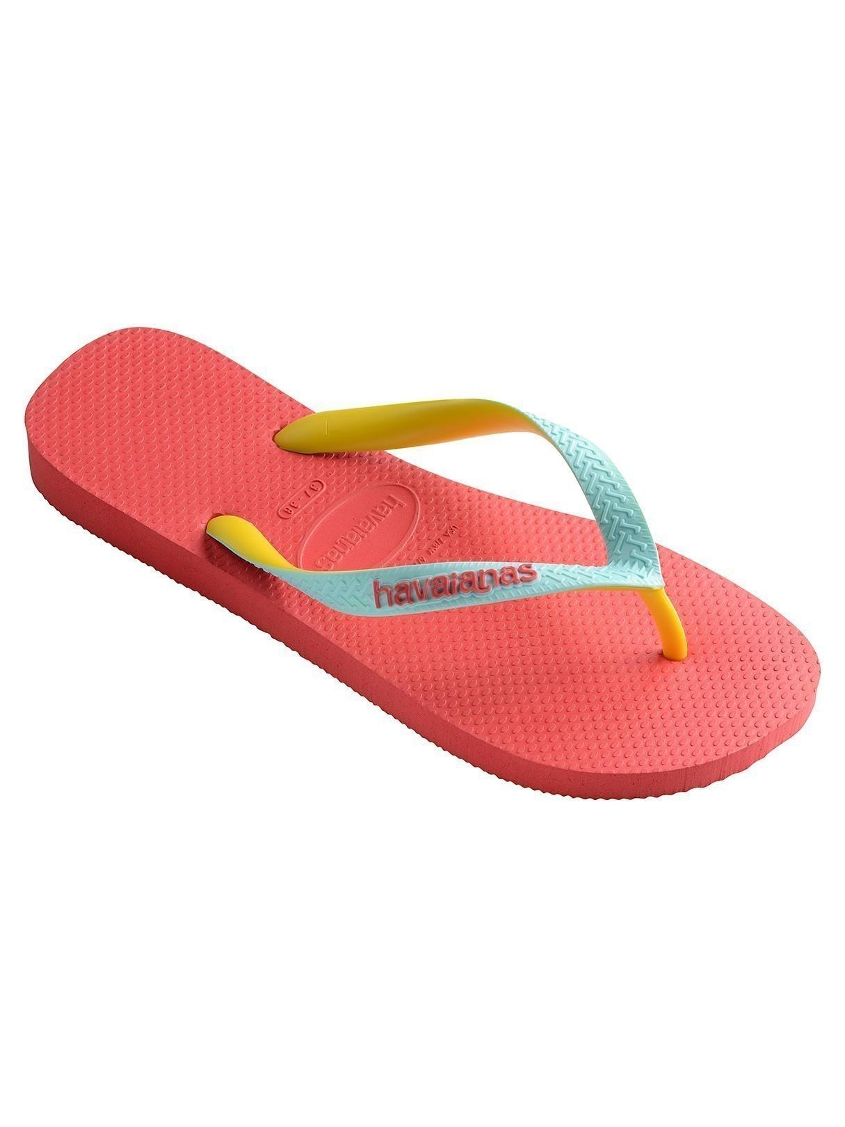 5c8c31f35c4ef Lyst - Havaianas Coralnew Top Mix Flip Flops