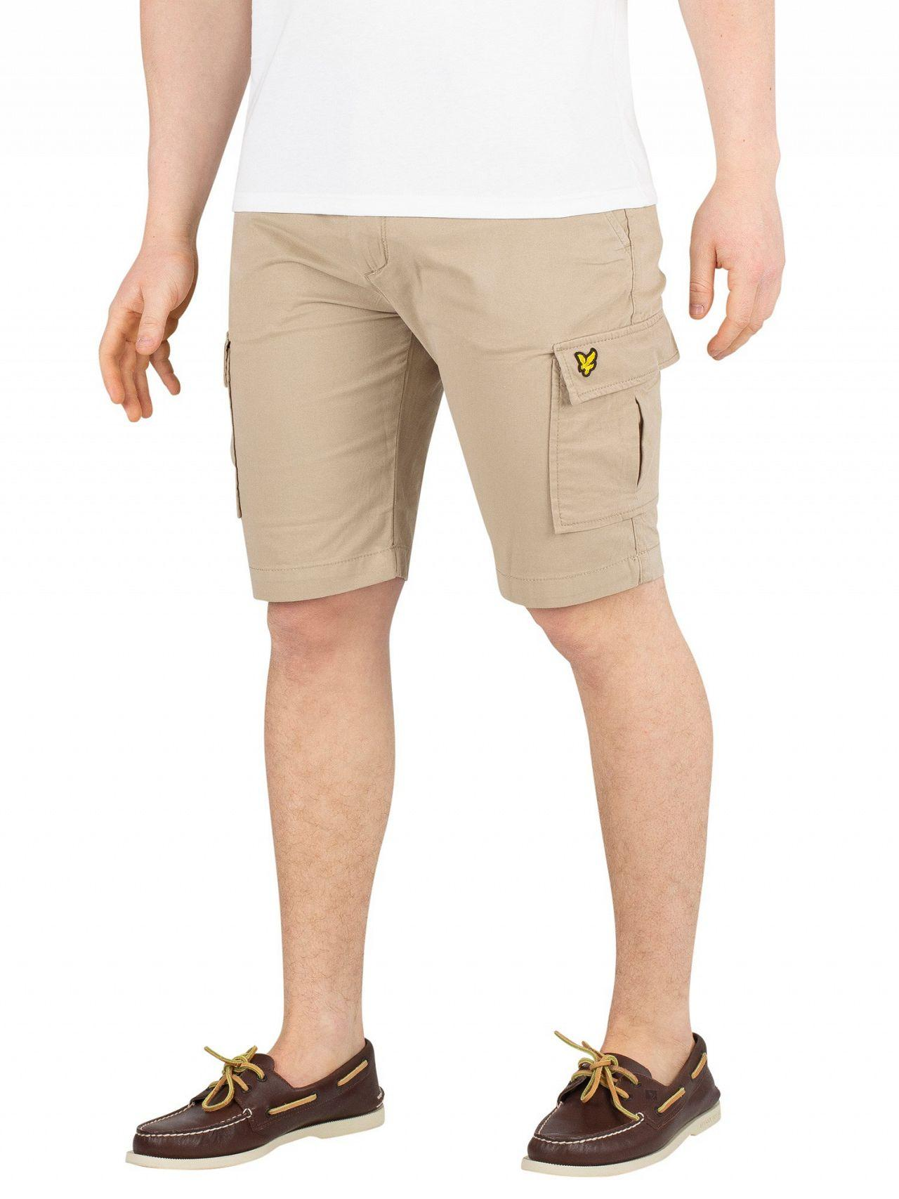 27929ed24f6 Lyst - Lyle   Scott Stone Cargo Shorts in Natural for Men