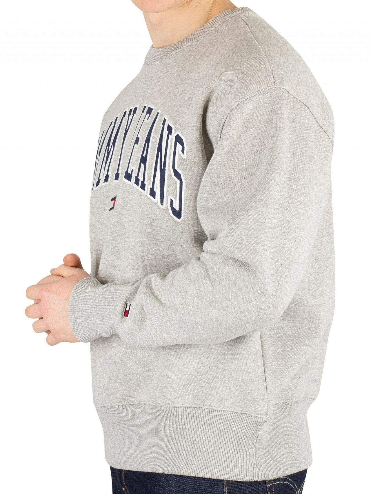 7f359a0f Tommy Hilfiger Light Grey Heather Clean Collegiate Sweatshirt in Gray for  Men - Lyst