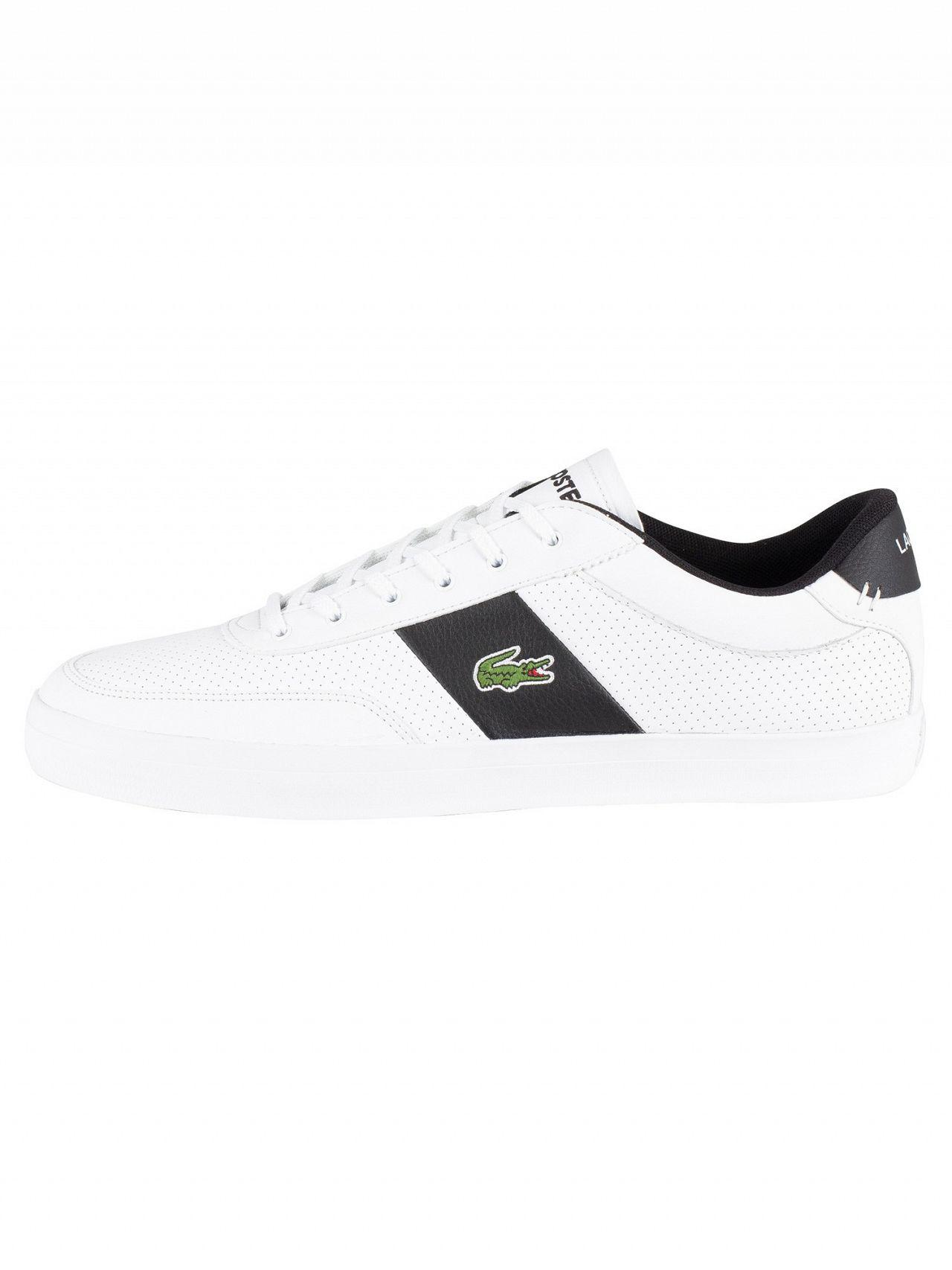 ea67d1ece754ae Lyst - Lacoste Court-master 119 2 Perforated Leather Trainers in White for  Men - Save 5%